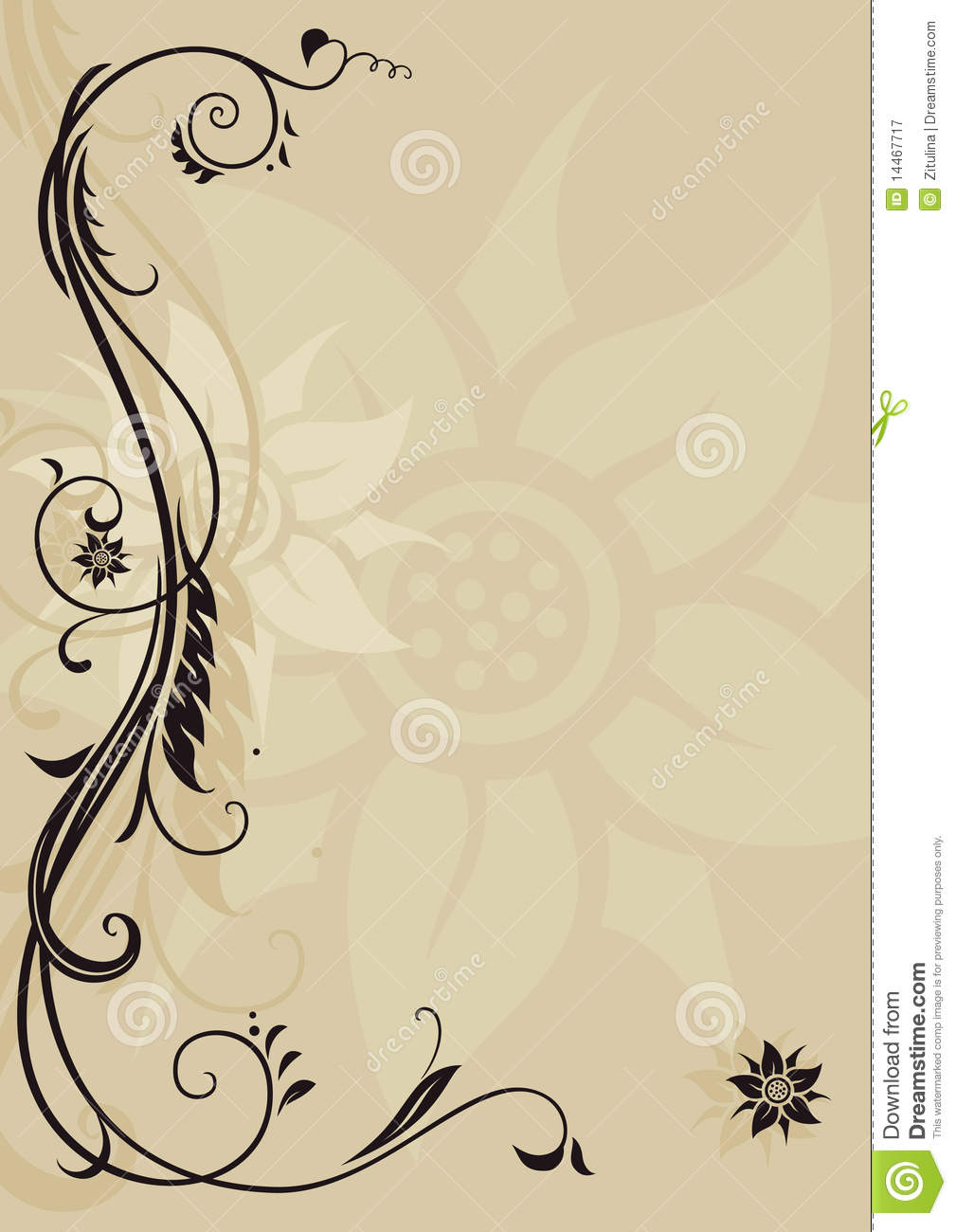 Ornamental Letterhead Royalty Free Stock Photography - Image: 14467717