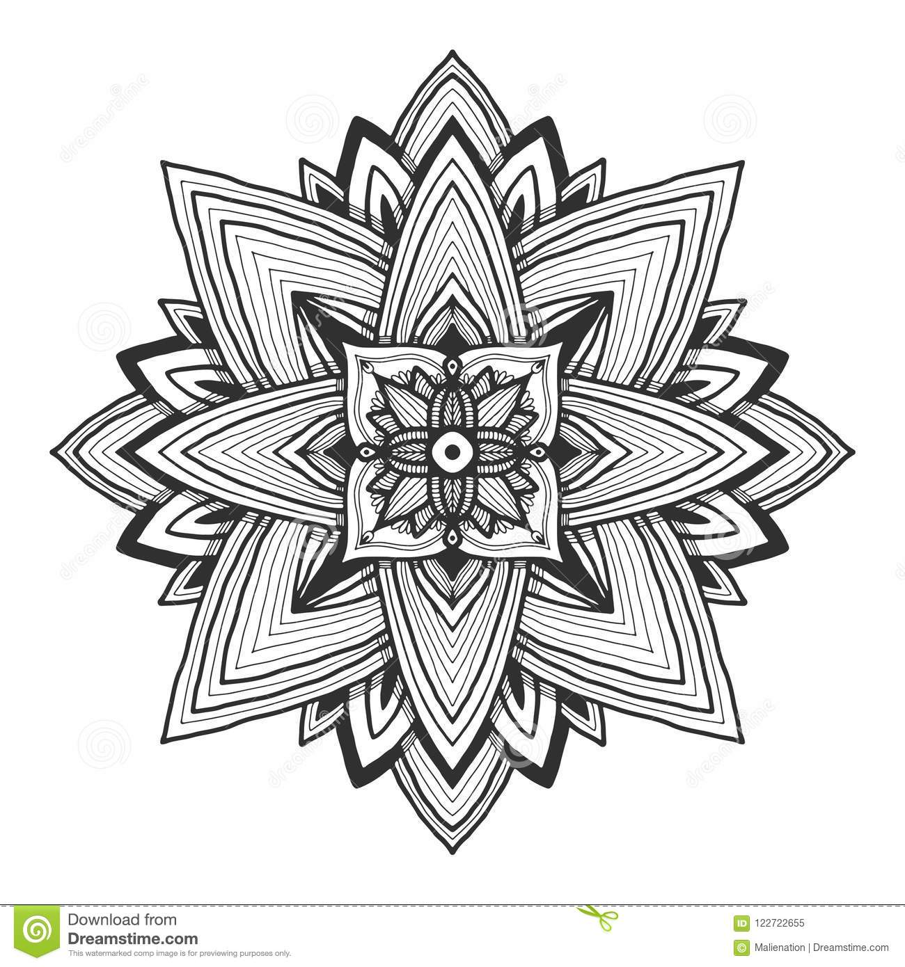 Ornamental Mandala Tattoo Art Design Flower Ornament Pattern