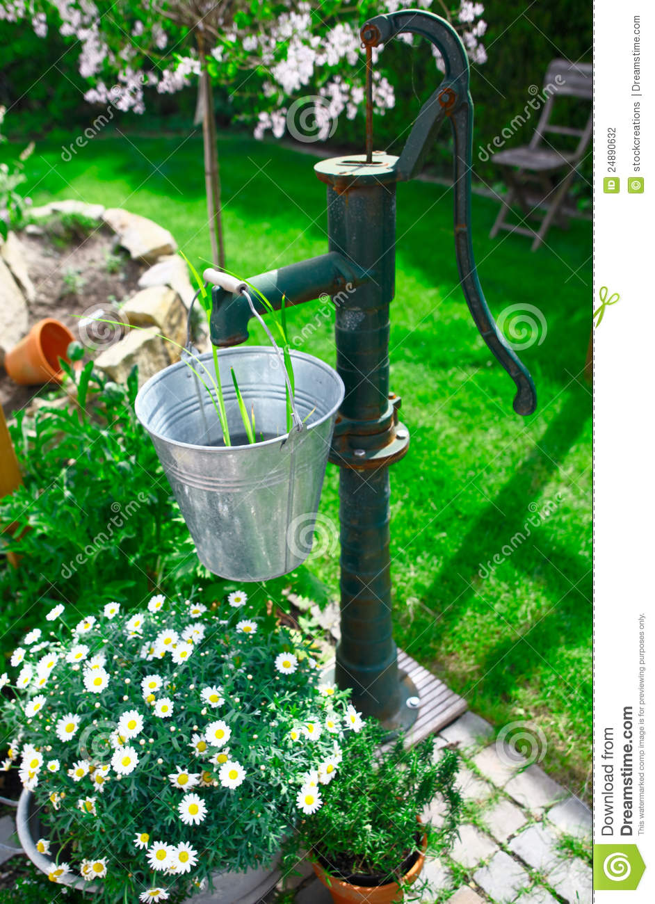 Ornamental Old Cast Iron Water Pump Stock Photo - Image of ...