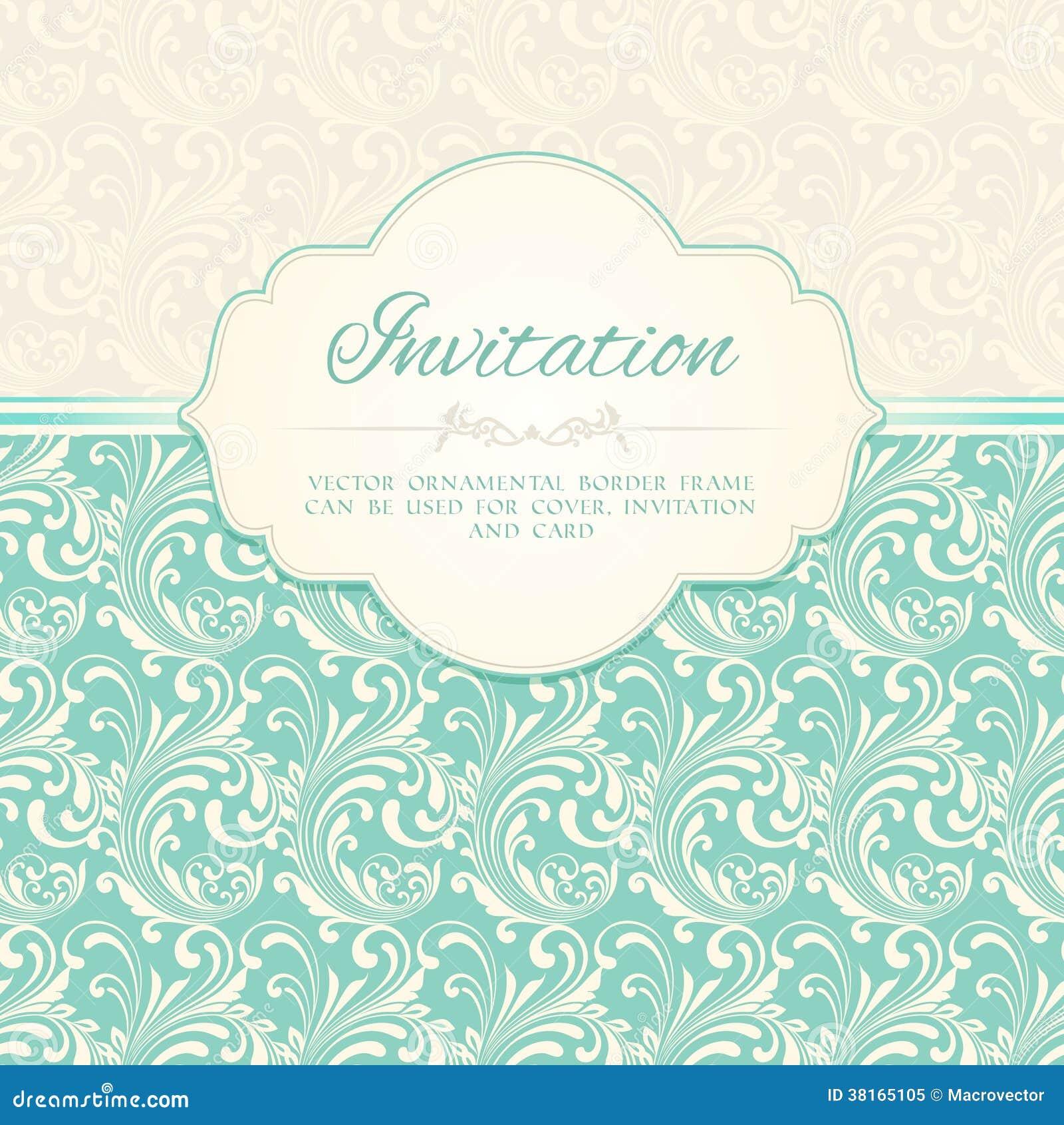 Ornamental Pattern Invitation Card Royalty Free Stock Photo