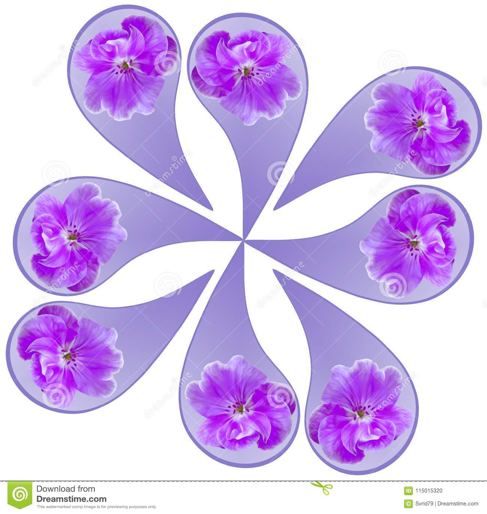 Ornamental Pattern Mandala With Floral Elements Stock Illustration