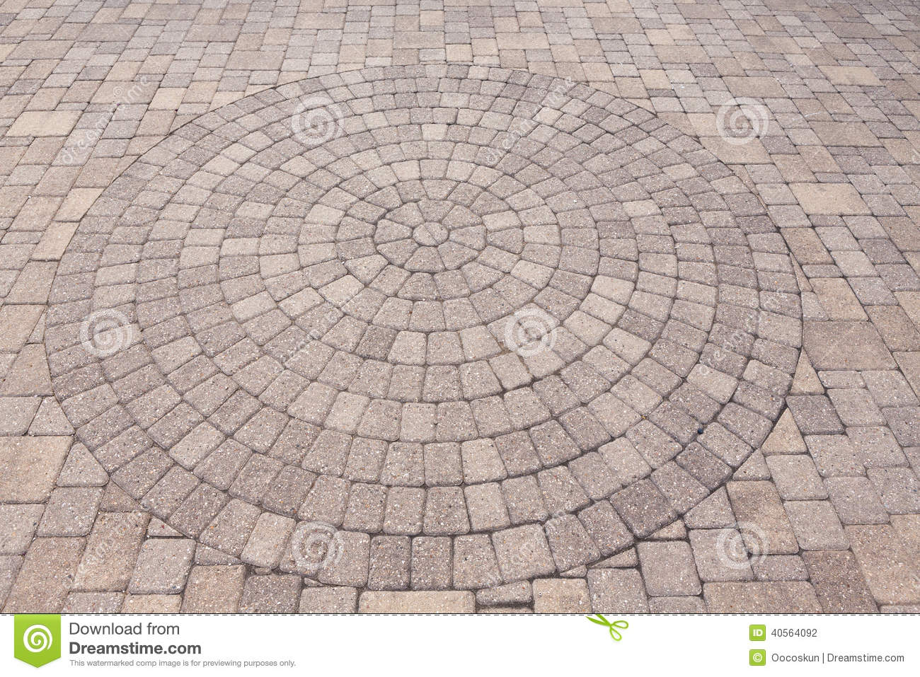 Ornamental Pattern In Patio Paving Stock Photo Image