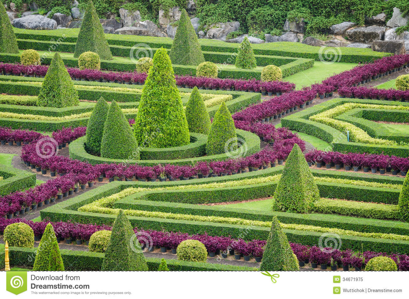 ... Landscape In Nature Garden Royalty Free Stock Photo - Image: 34671975: www.dreamstime.com/royalty-free-stock-photo-ornamental-plants-tree...