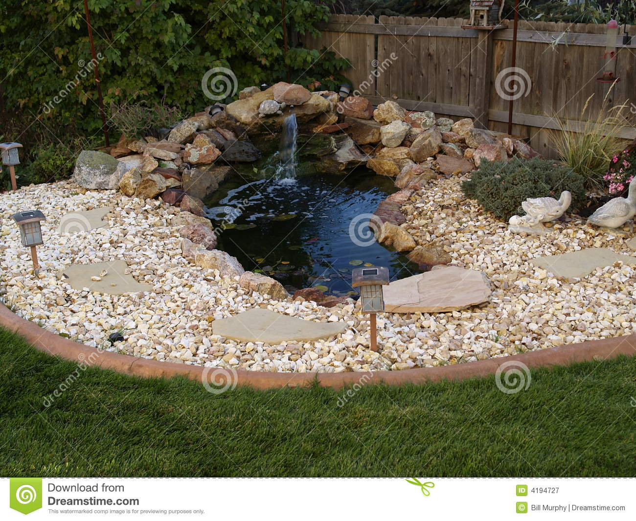 Ornamental Pond In Garden Royalty Free Stock Photography