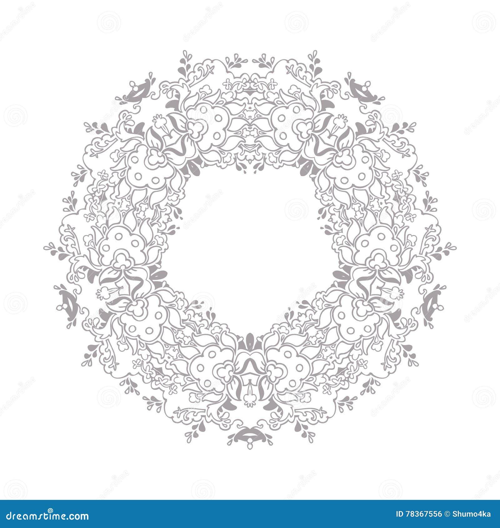 Frame Design Line Art : Vector decorative line art frame for design template