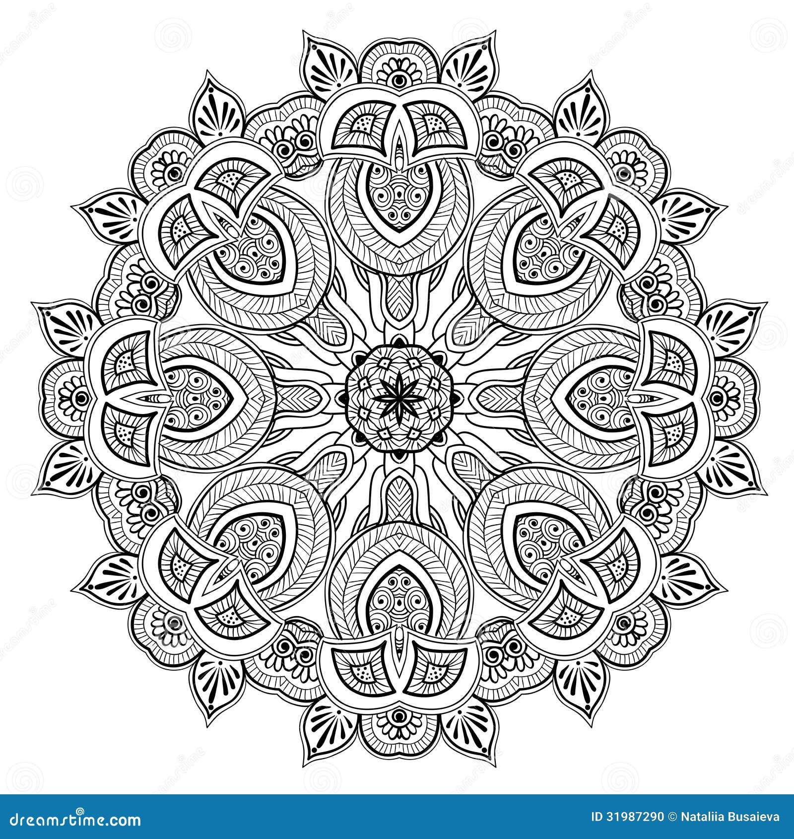 Ornamental Round Lace Pattern Is Like Mandala Stock Photo