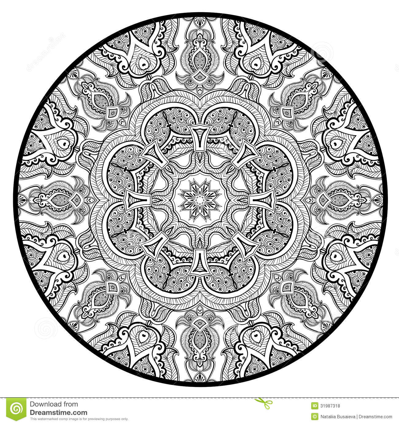 Ornamental Round Lace Pattern Like Mandala Stock Vector