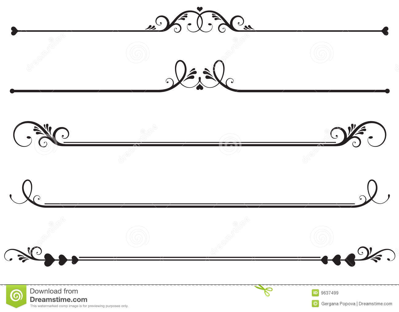 Ornamental Rule Lines Stock Vector Illustration Of Design