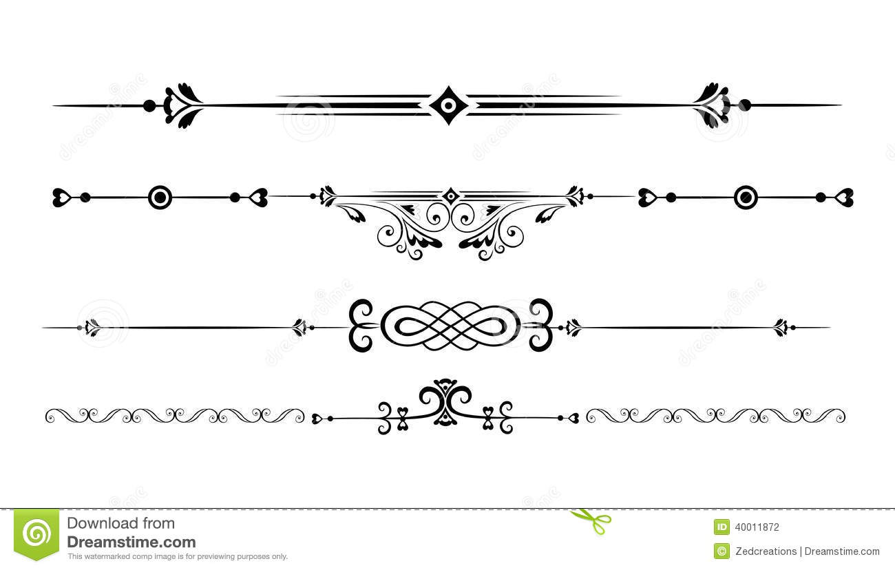 Ornamental Rule Lines Stock Vector Image Of Fashioned
