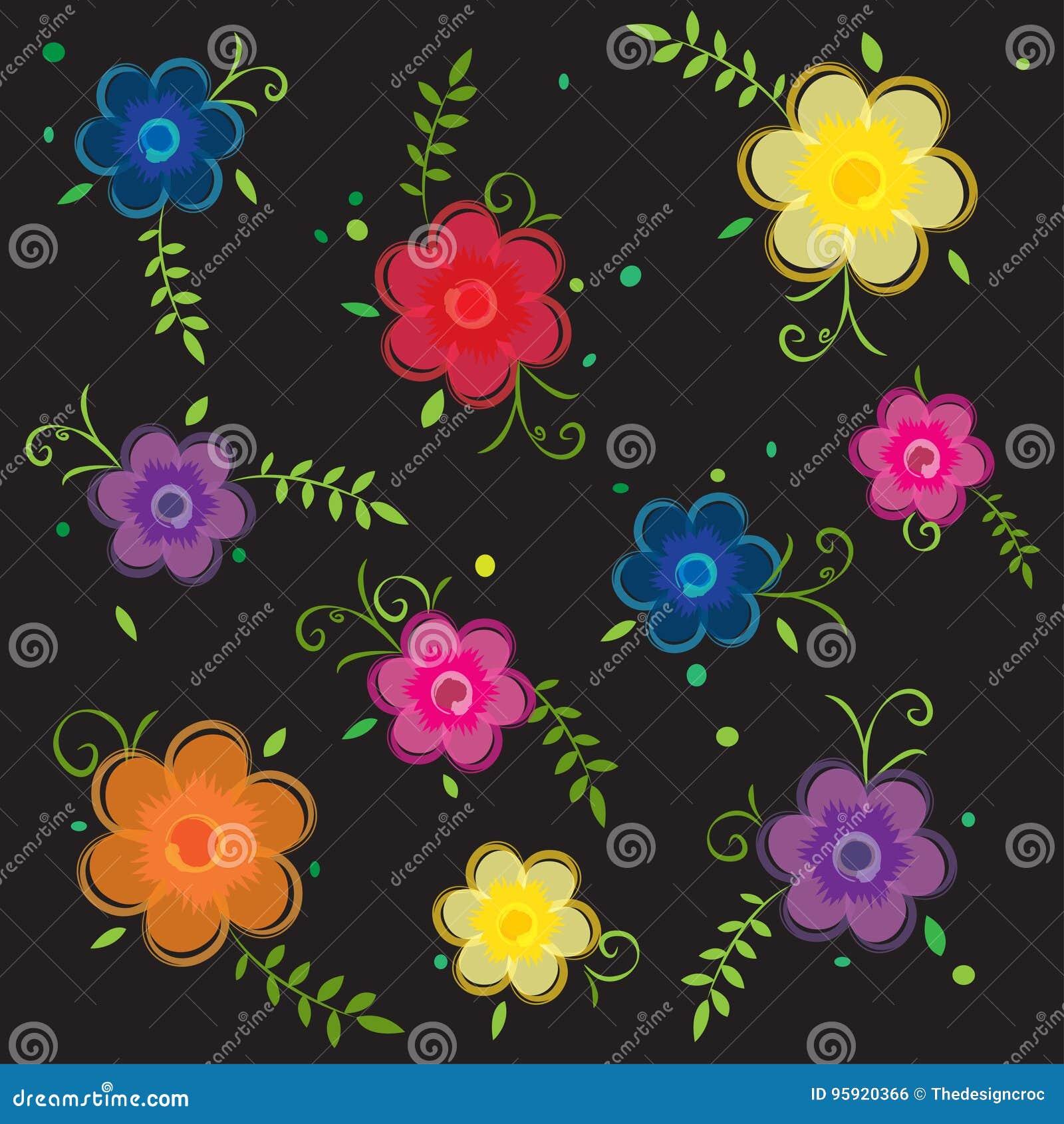 Ornamental Seamless Floral Flower Background Wallpaper Pattern Stock Vector Illustration Of Floral Artwork 95920366