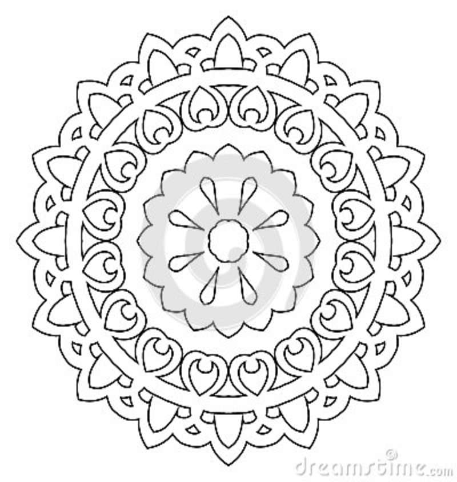Ornamental simple mandala  stock vector  Illustration of
