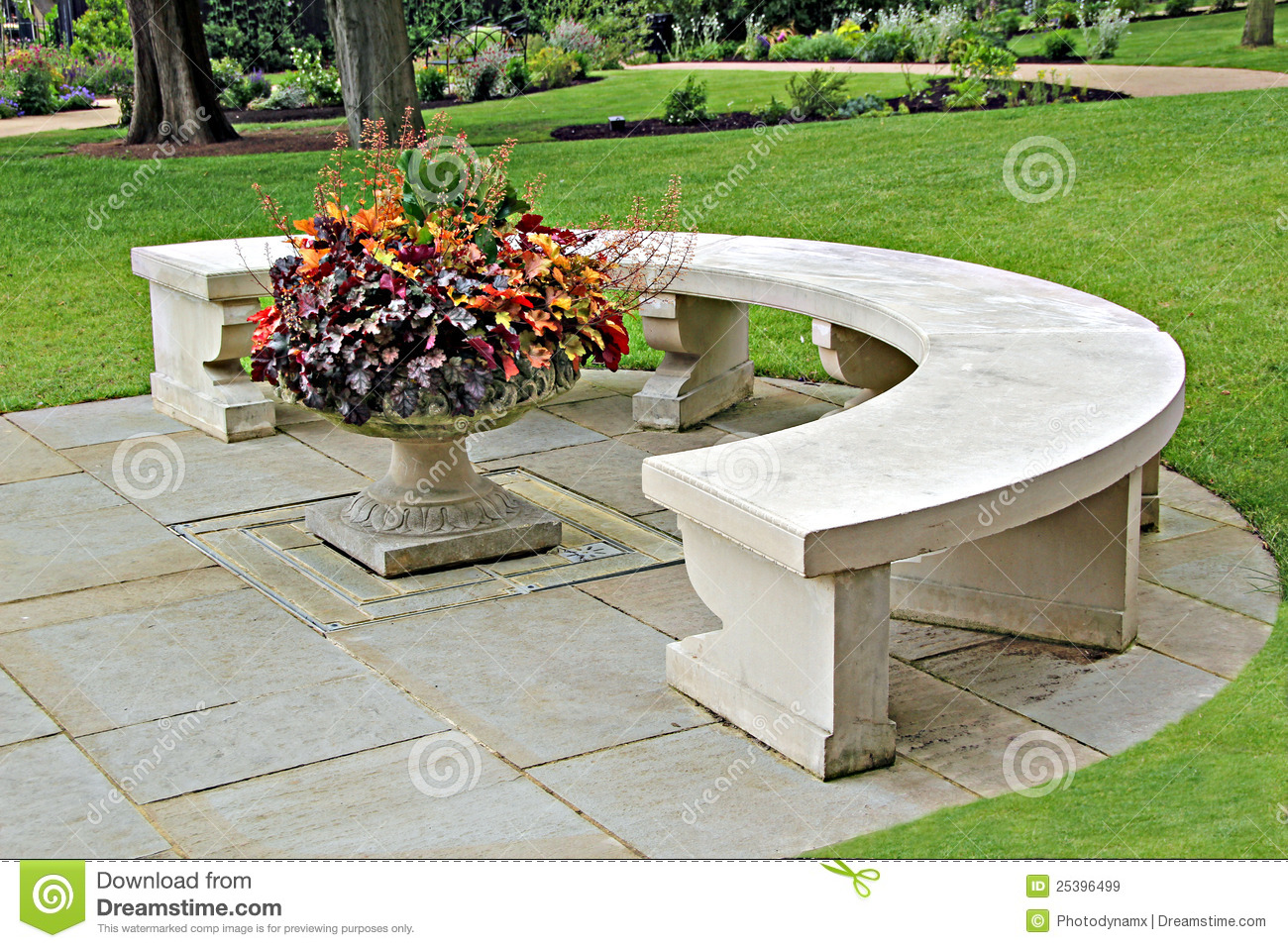 Ornamental Stone Bench Royalty Free Stock Images - Image: 25396499
