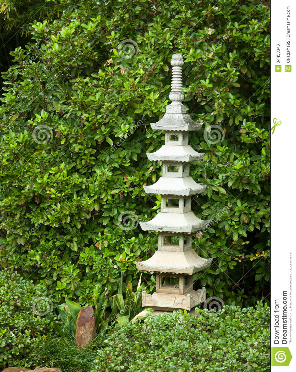 Good Ornamental Stone Pagoda