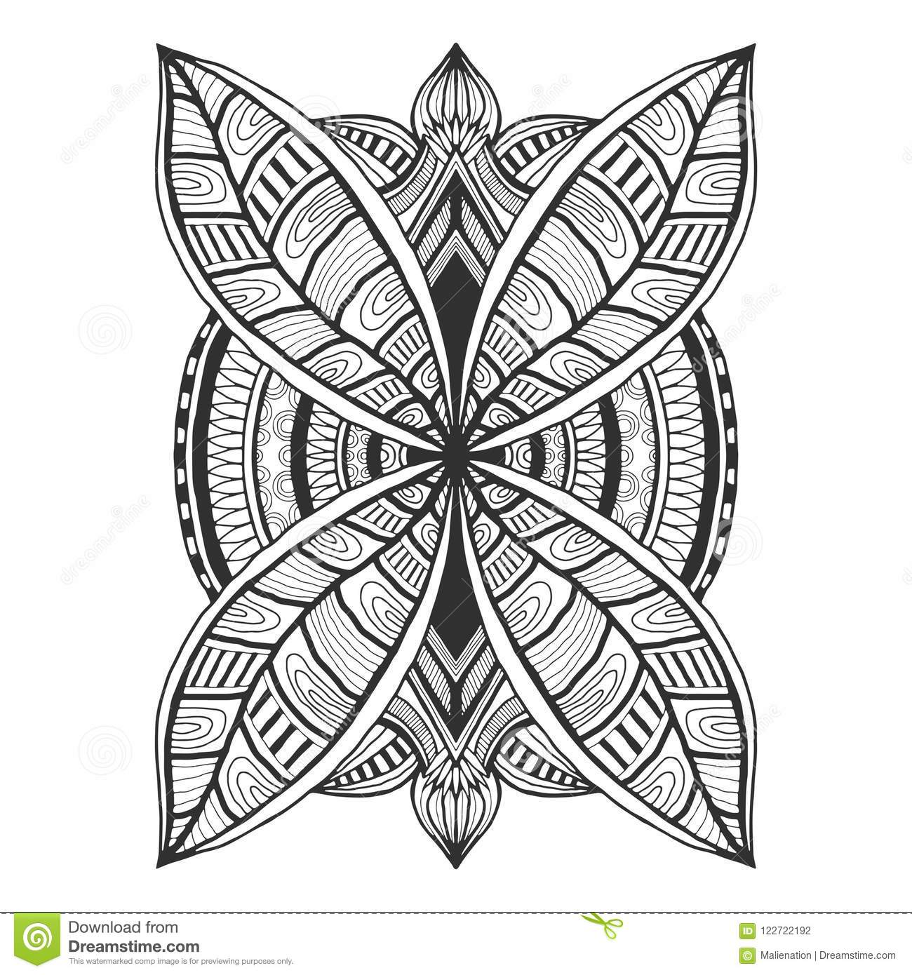 Ornamental Tattoo Design Unique Ornament Pattern Vector For Adult