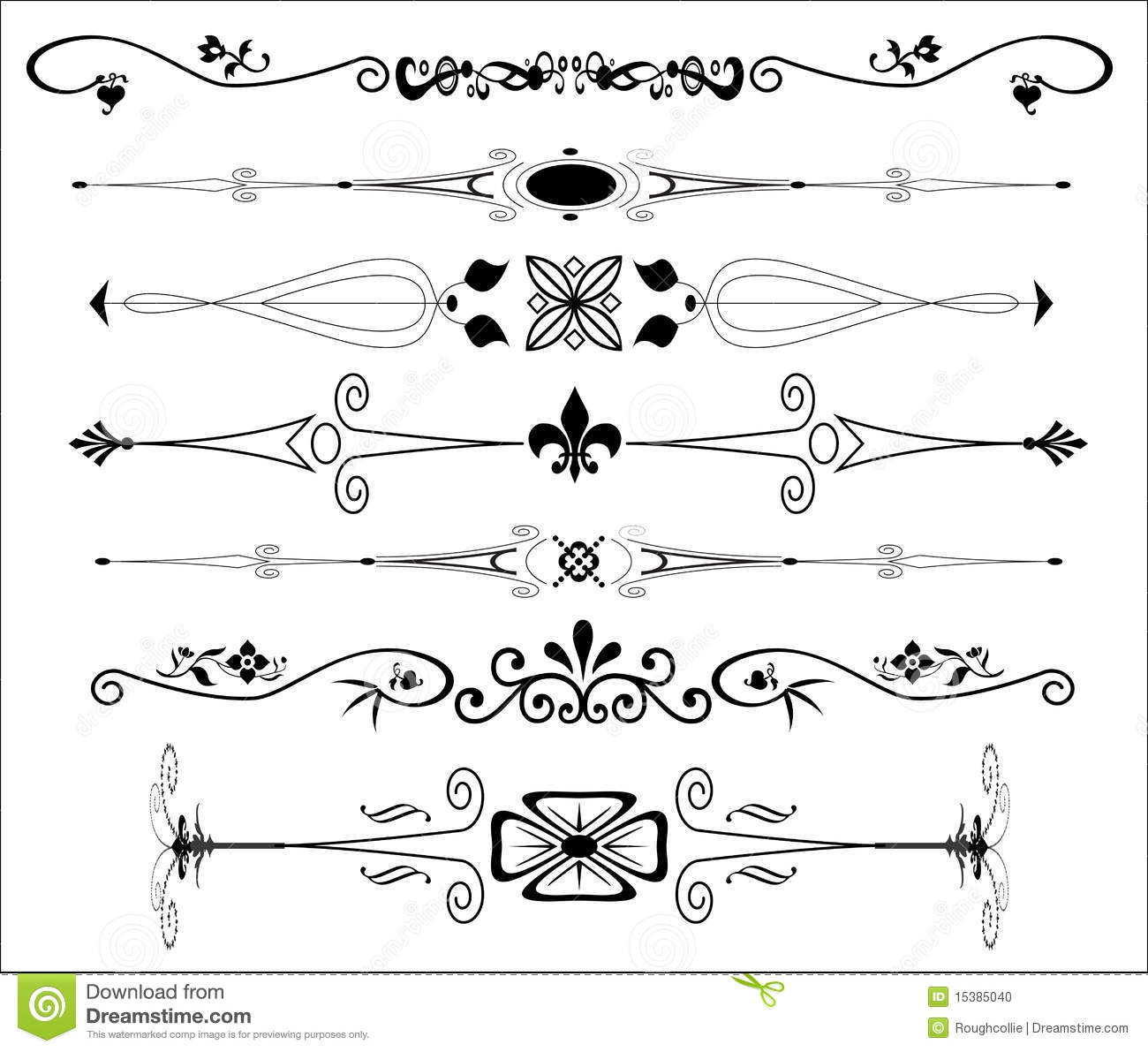 Ornamental text dividers stock illustration illustration for A text decoration