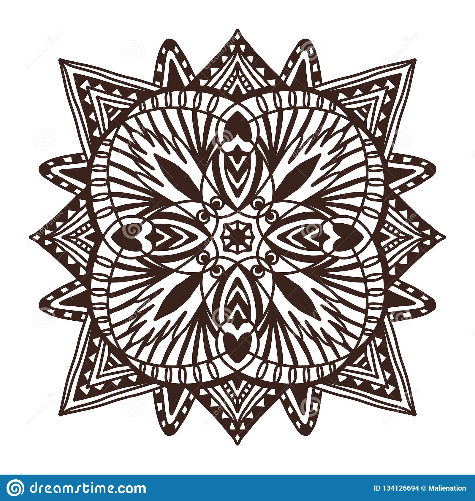 Ornamental Tile Mandala Tattoo Art Design Carpet Ornament