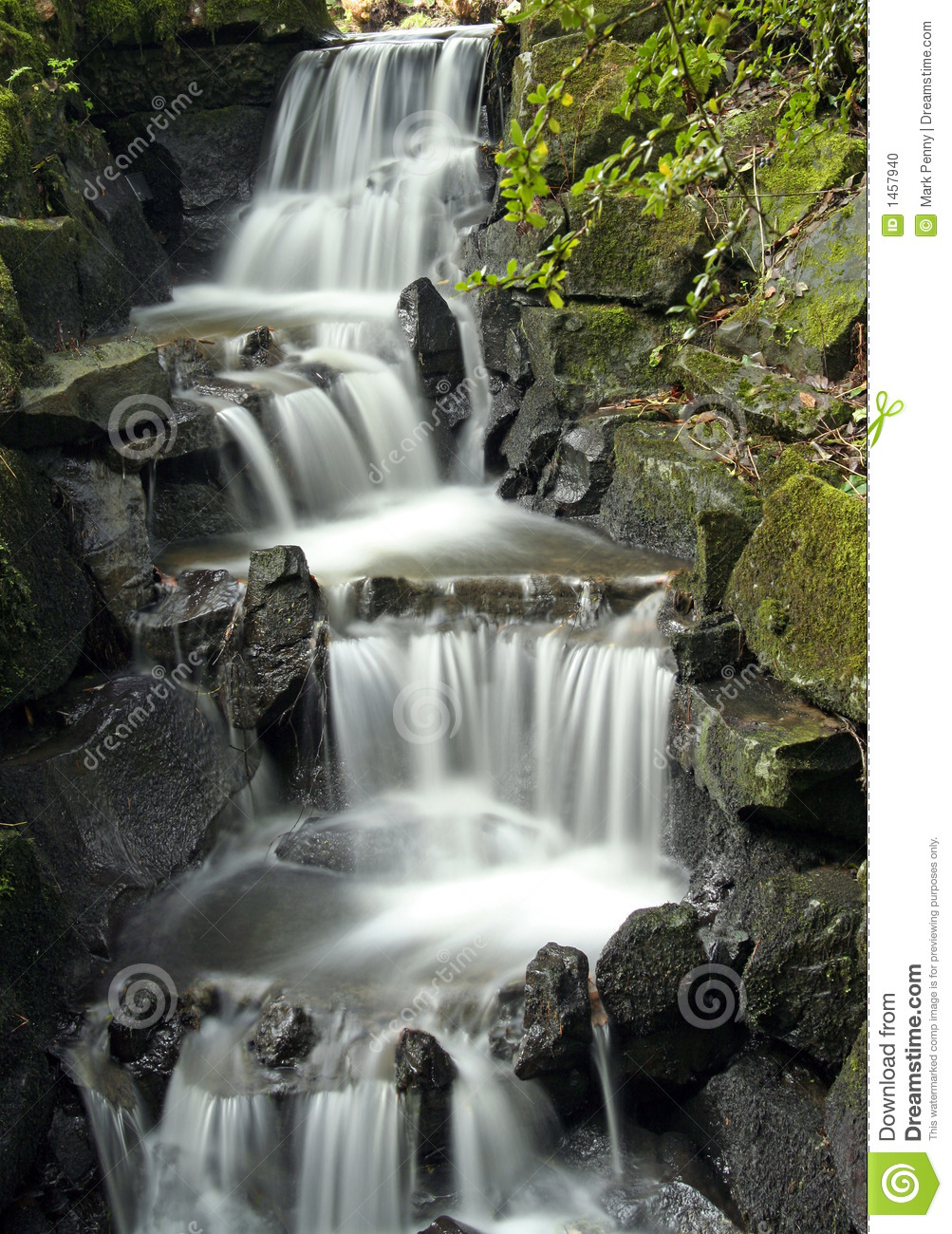 Ornamental waterfall stock photo image 1457940 for Ornamental pond waterfall