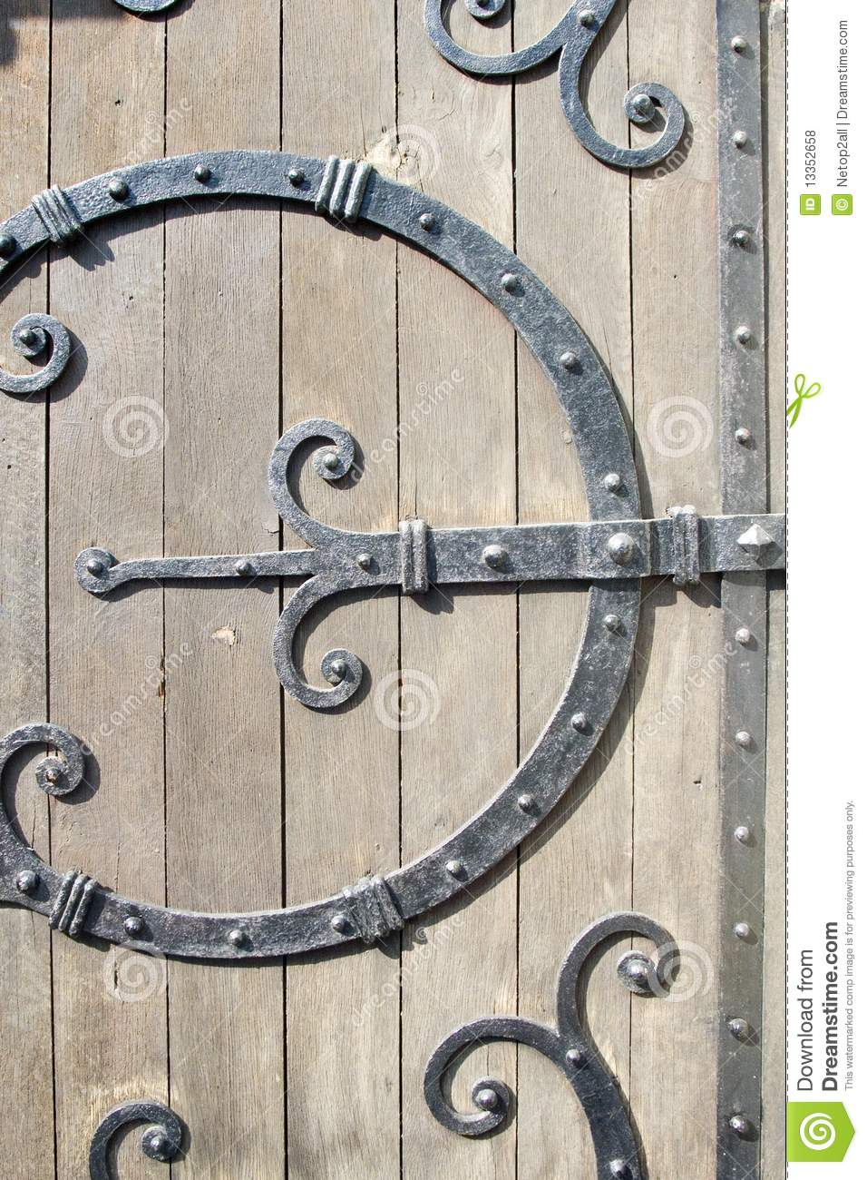 Ornamental Wrought Iron Door Hardware Stock Photo Image 13352658