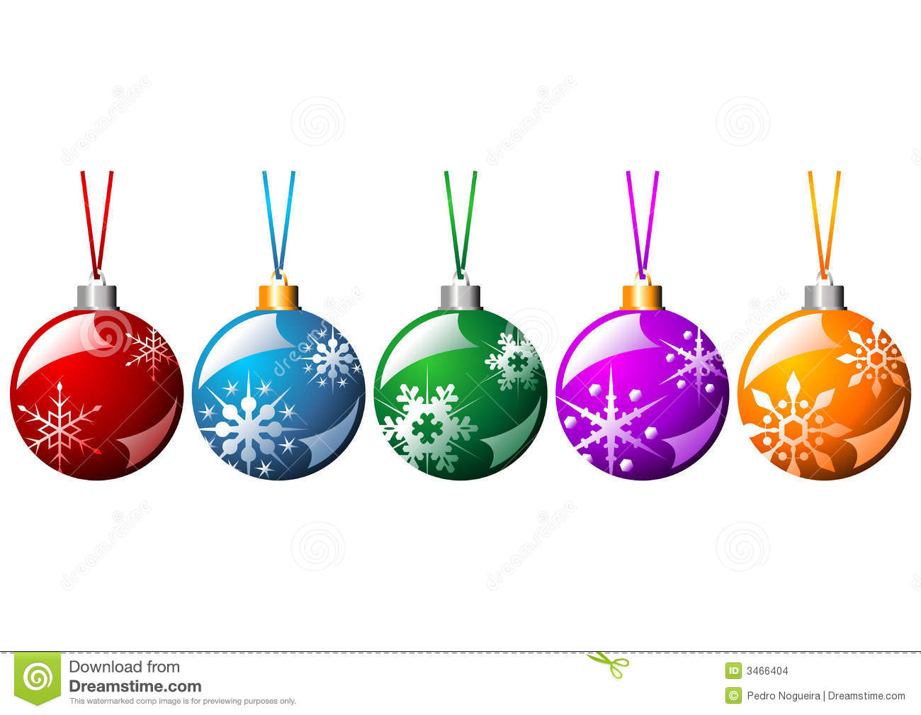 Ornamented Christmas Balls Stock Images - Image: 3466404