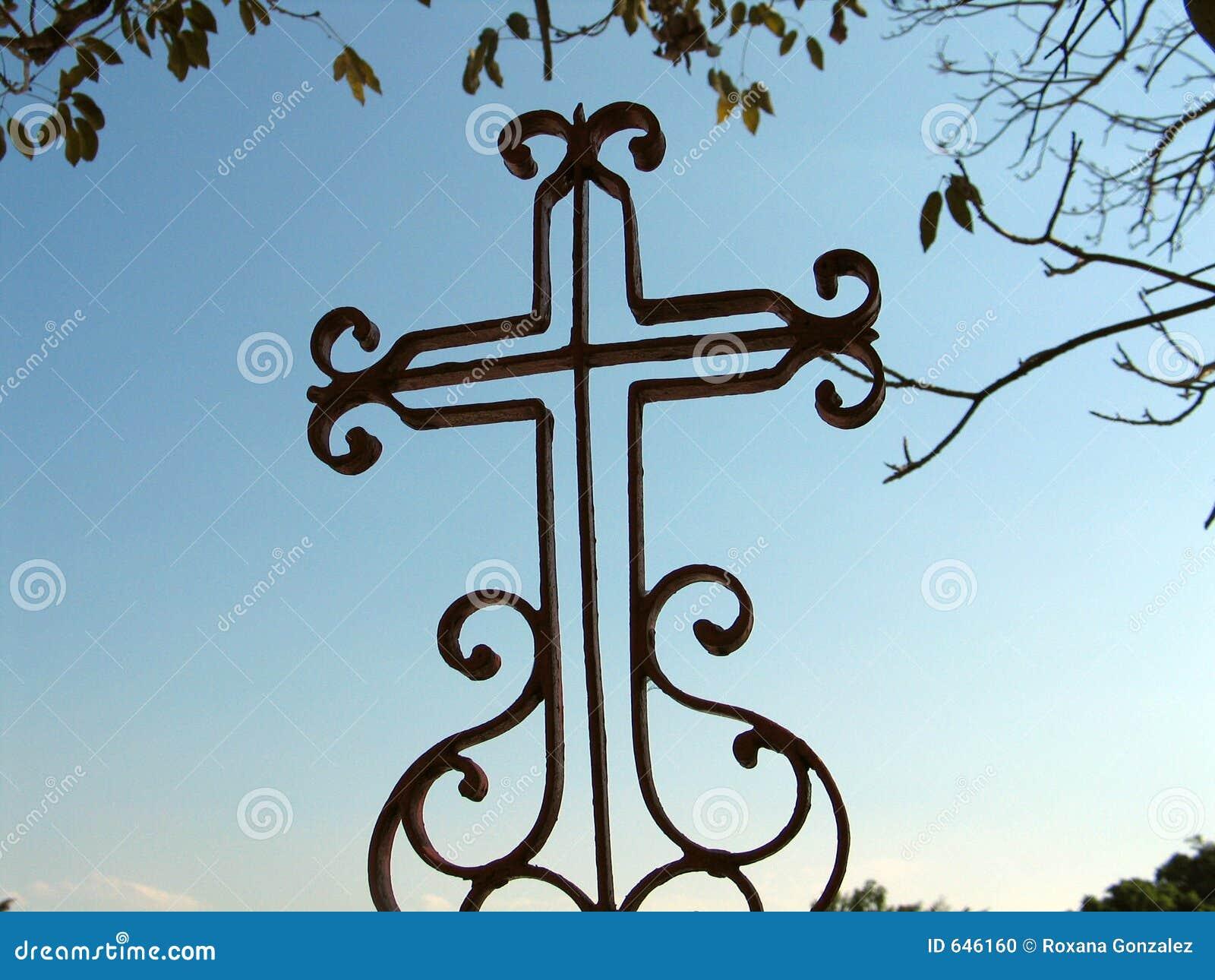 Ornamented Cross Stock Photo