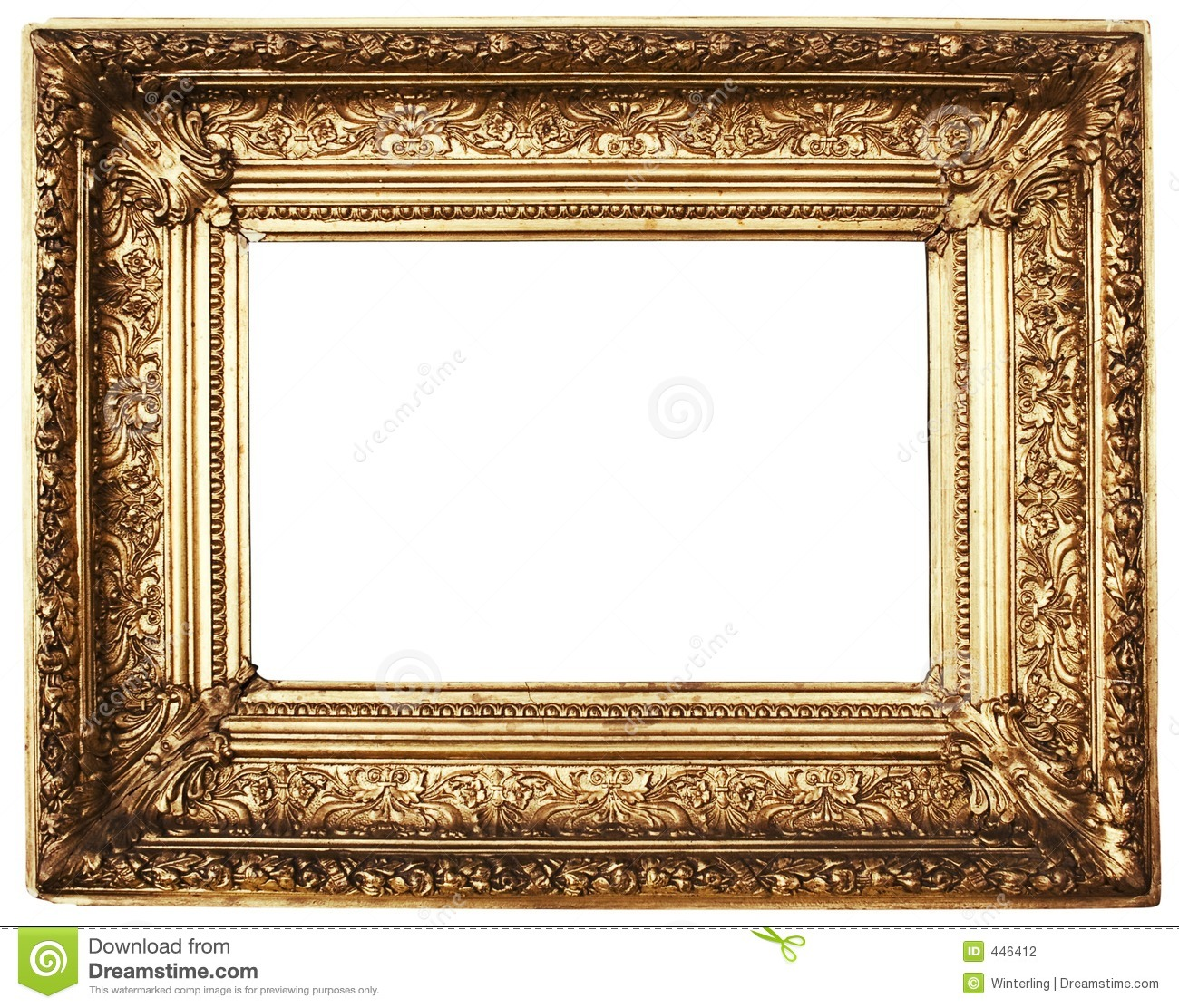 ornamented picture frame gold path included