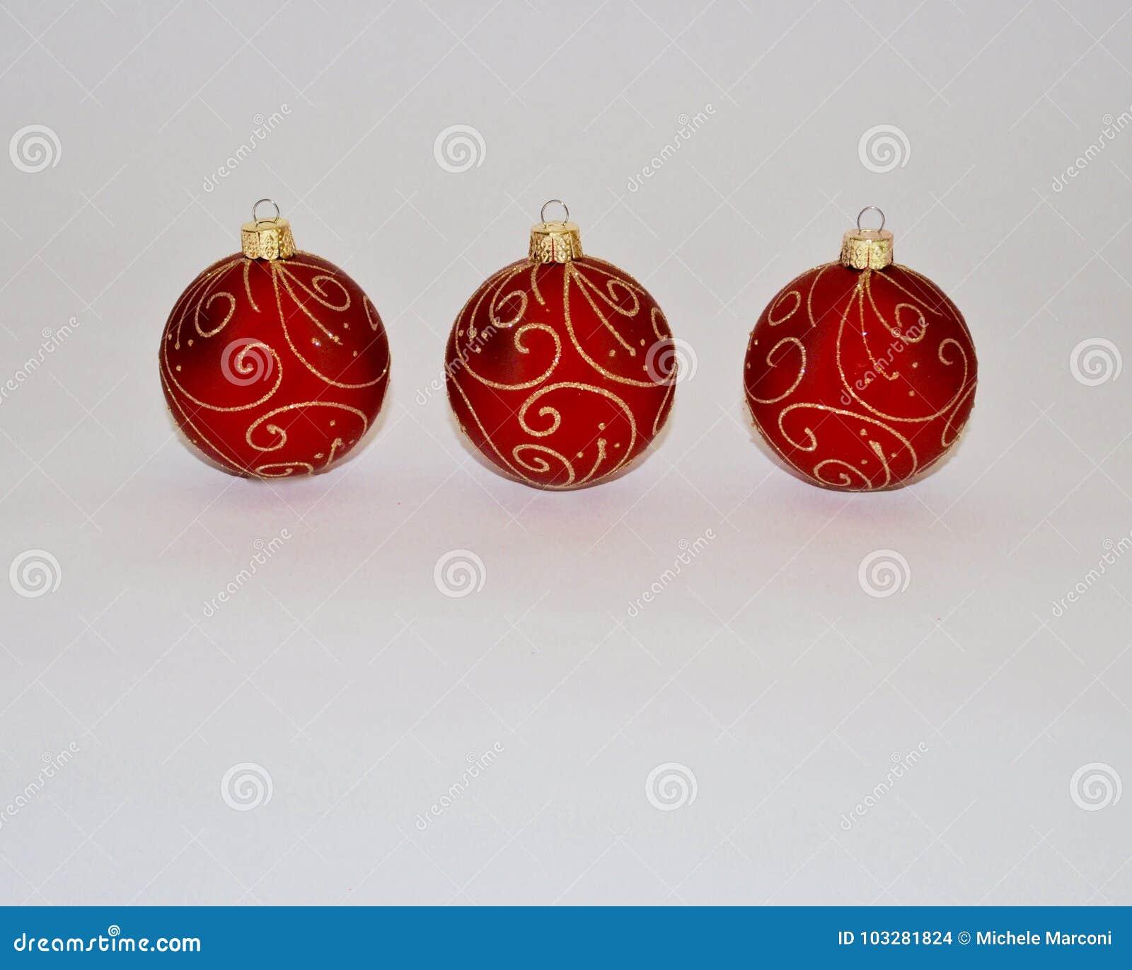 Ornamenti di natale Decorazioni rosse di natale