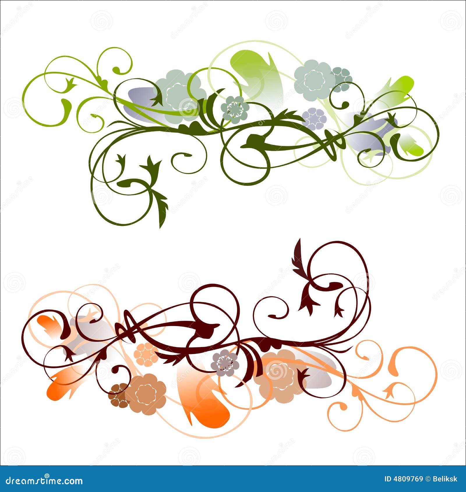 Ornamenti di vecchio stile illustrazione vettoriale for Piani domestici di vecchio stile