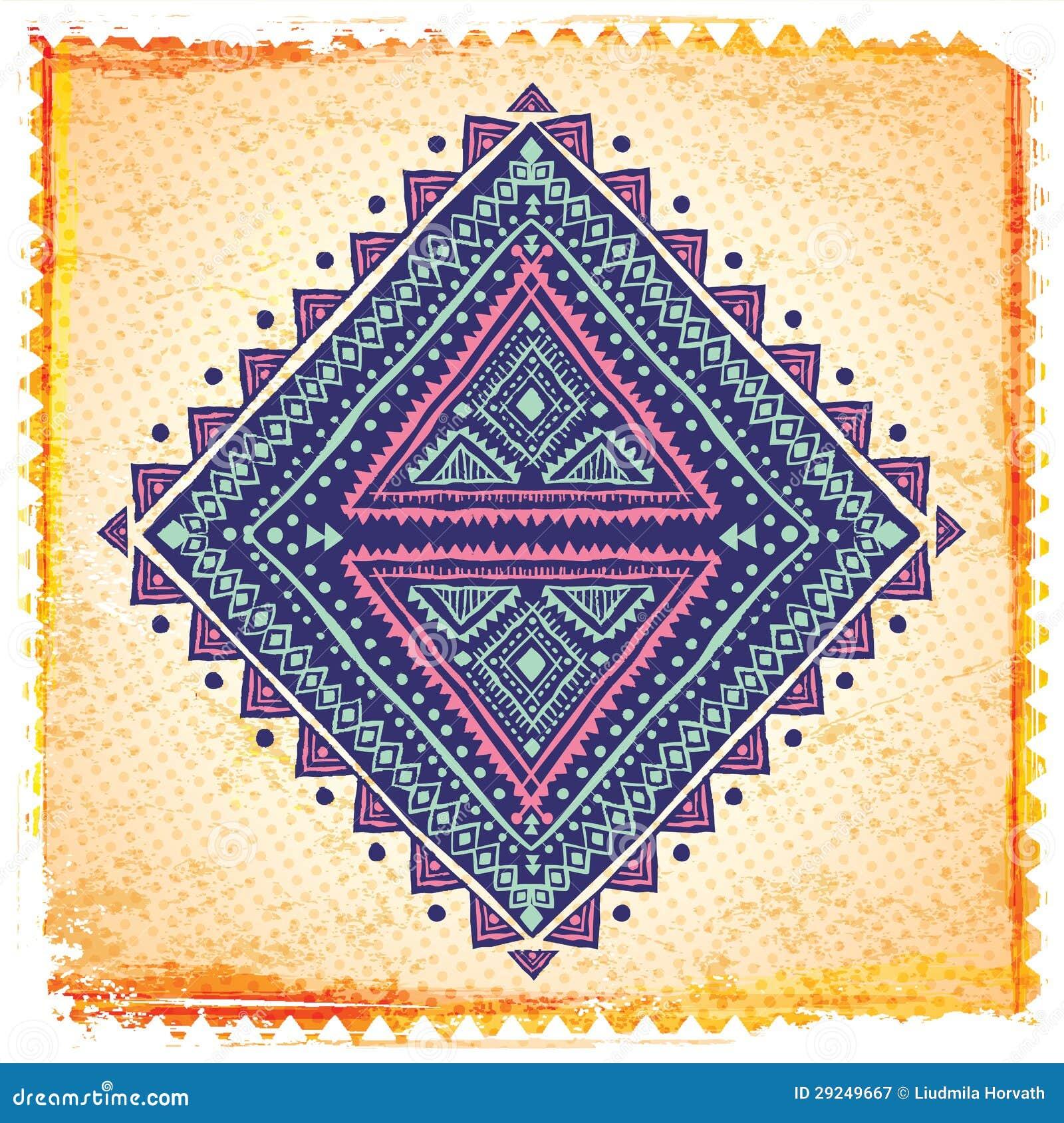 Download Ornamento étnico bonito ilustração do vetor. Ilustração de festive - 29249667