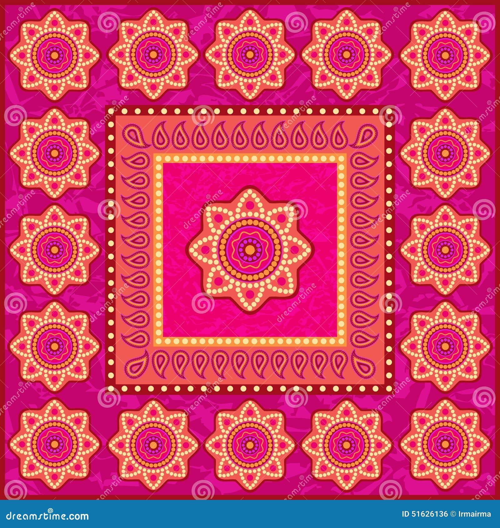 Ornamento étnico en estilo indio