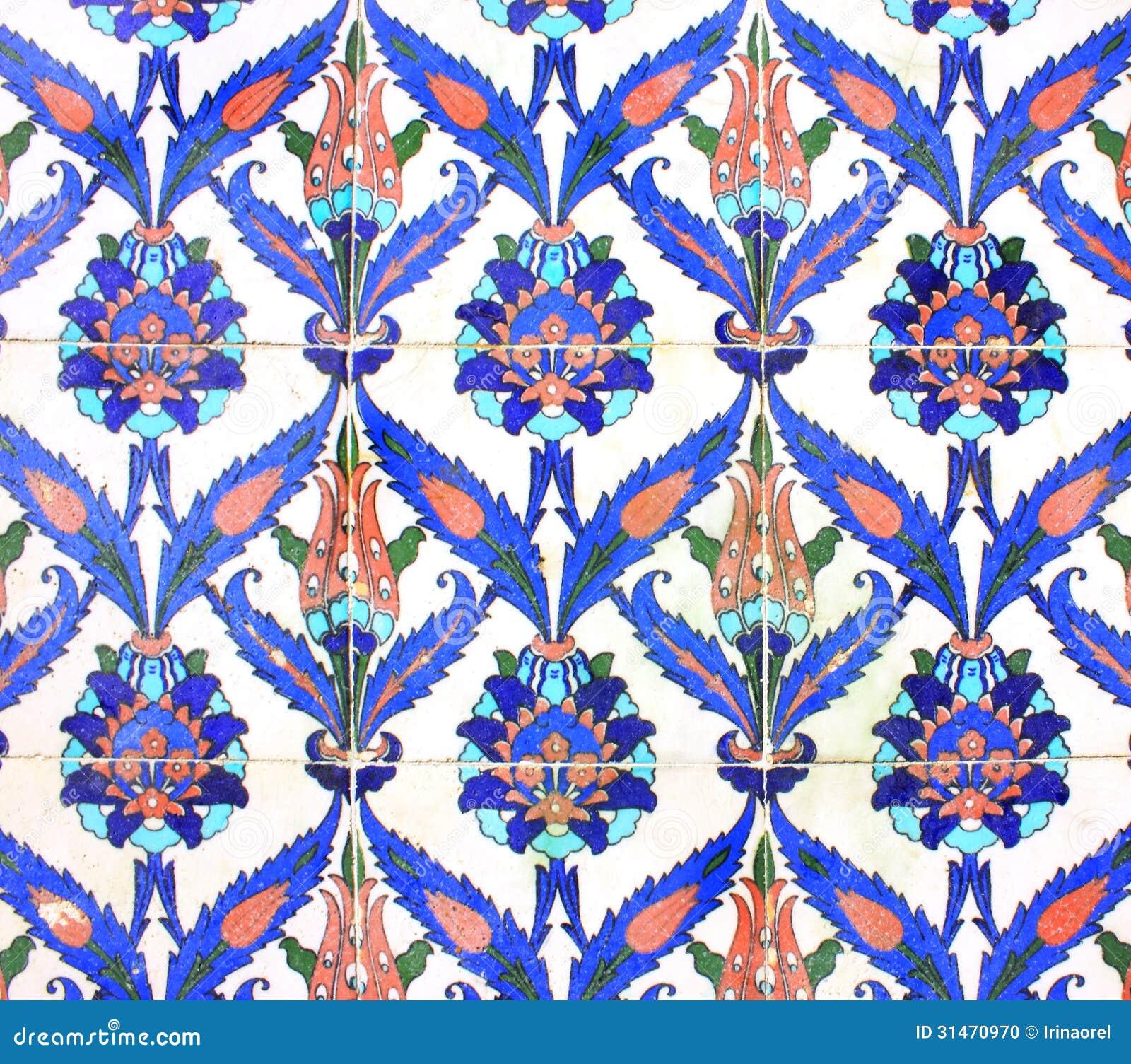 Ornamento arabo sulle piastrelle di ceramica fotografia - Piastrelle di ceramica ...