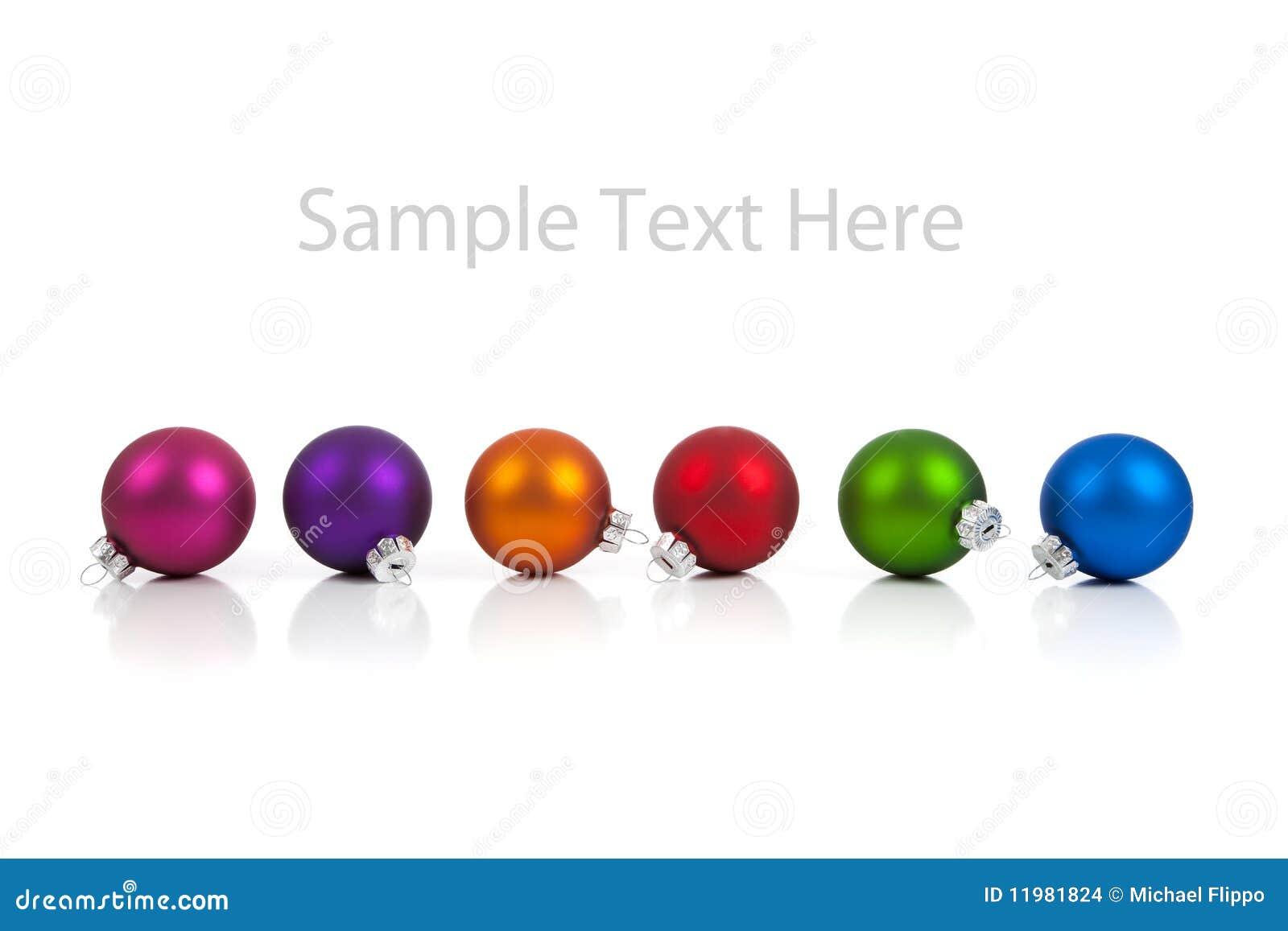 Ornamento/baubles do Natal com espaço da cópia