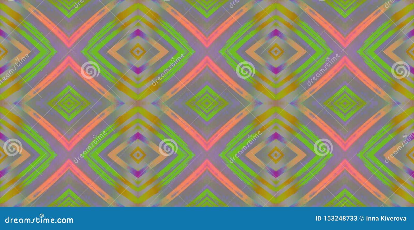 Ornamento brilhante de repetição infinito sem emenda de formas geométricas multi-coloridas