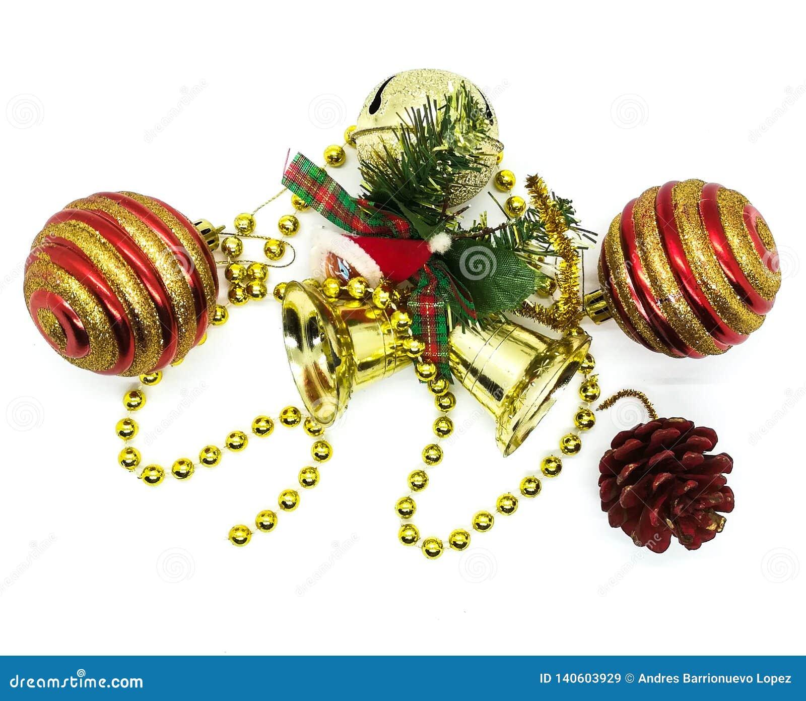 Ornamento brilhantes do Natal na composição