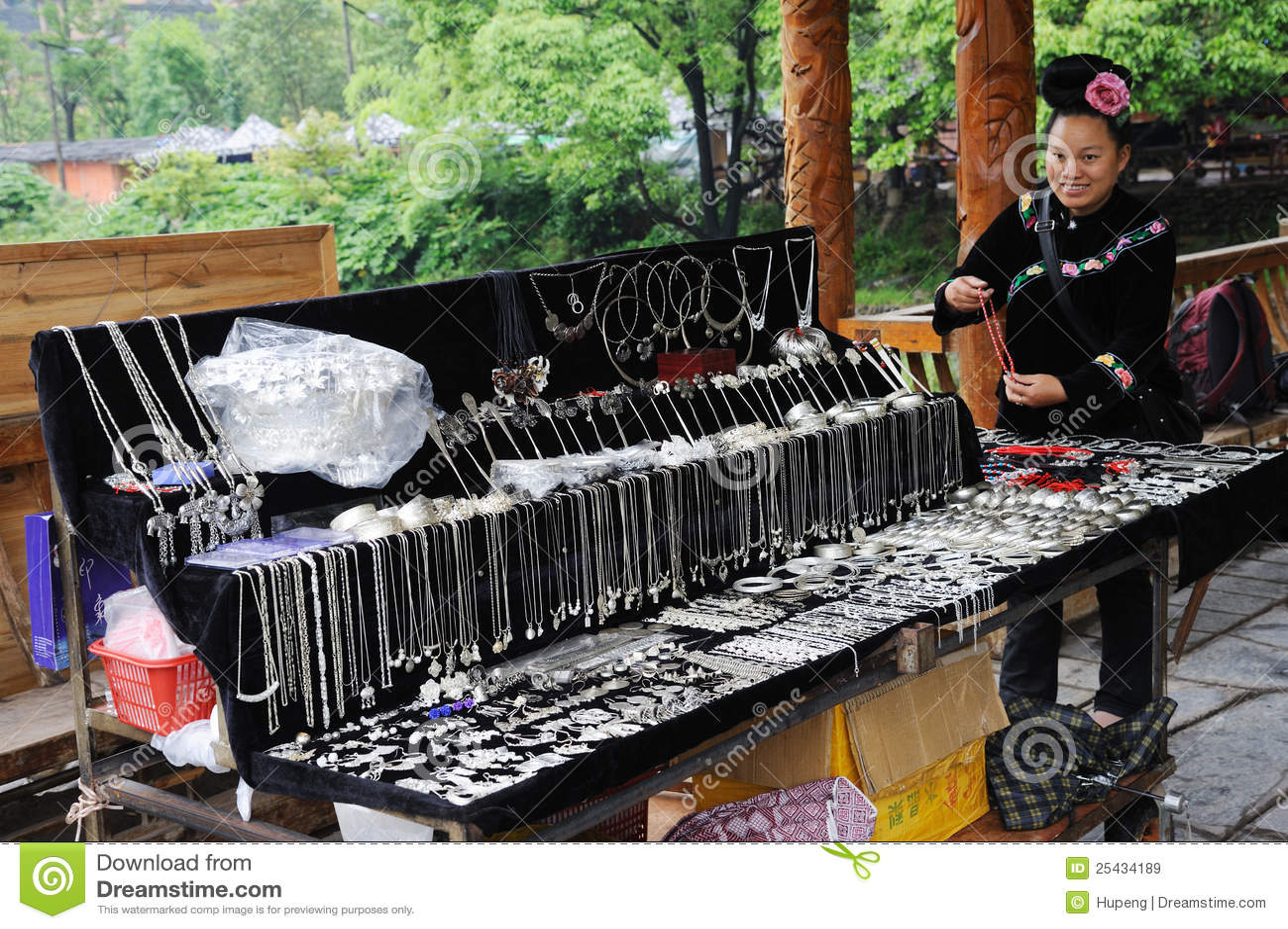 Ornamento chineses da prata do sell da mulher do miao