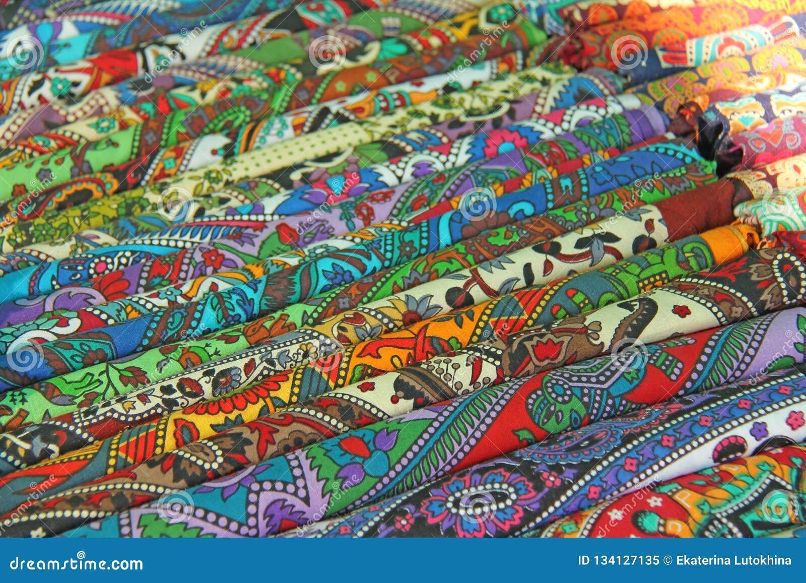 Ornamento Coloridos Brilhantes Da India Das Telas E Desenhos