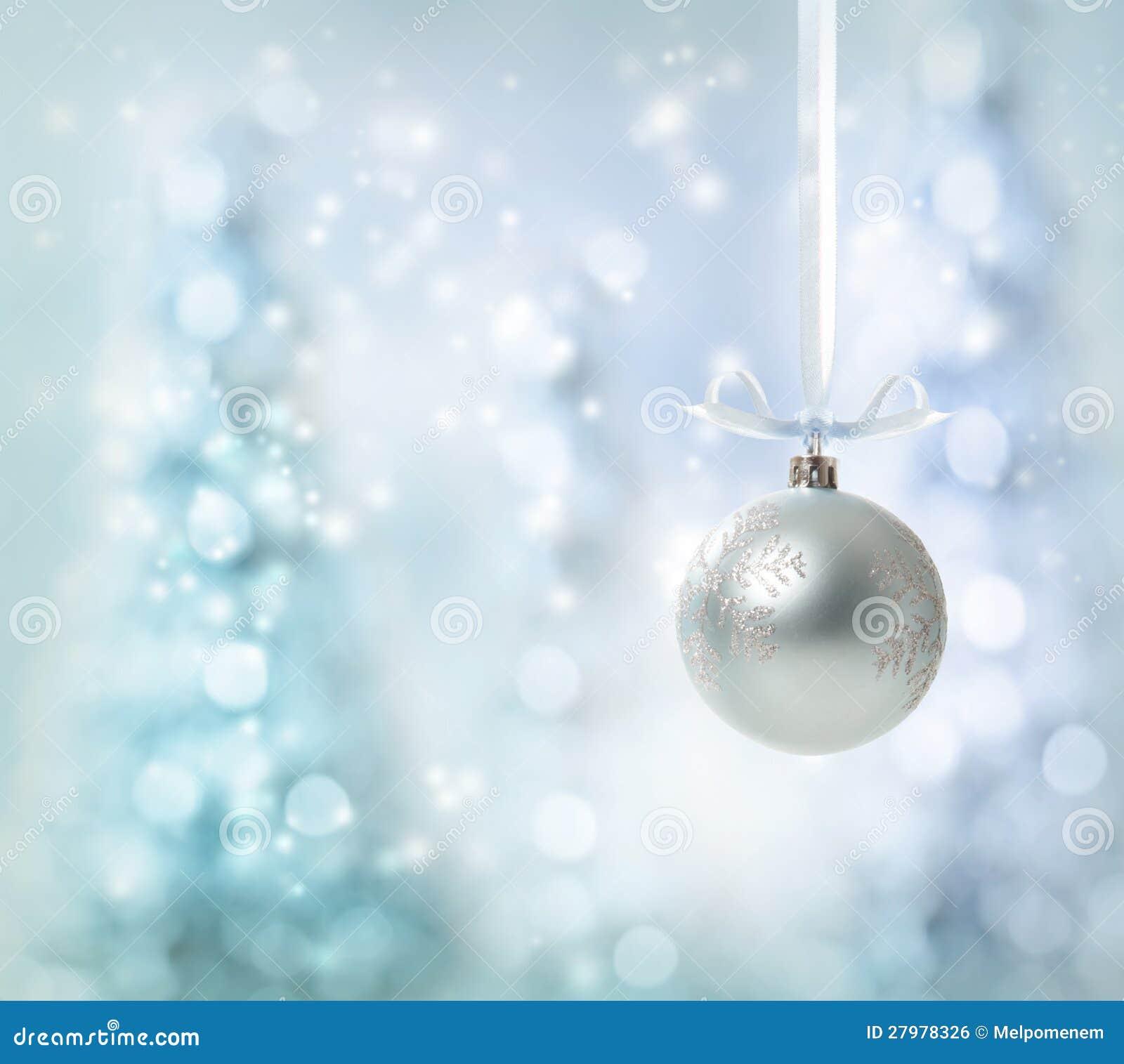 Ornamento d argento di Natale