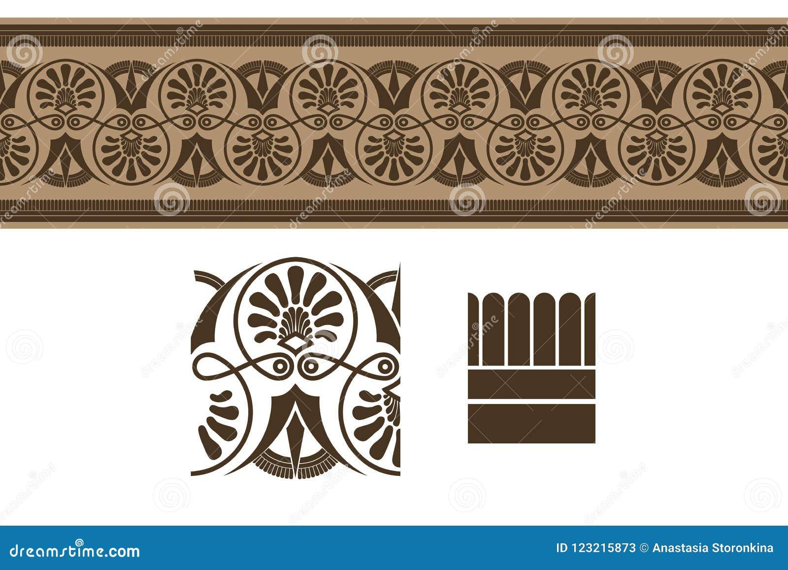 Ornamento da beira do grego clássico,