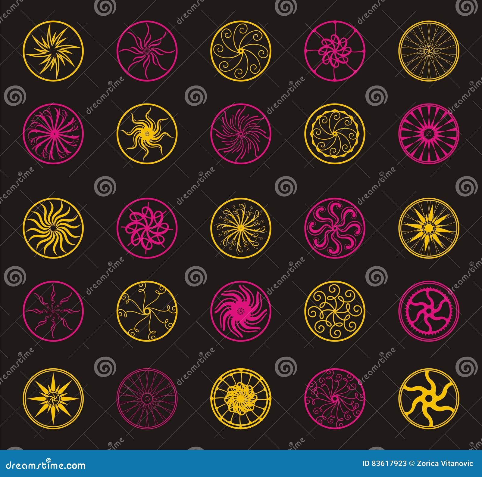 Ornamento da flor do vetor do círculo