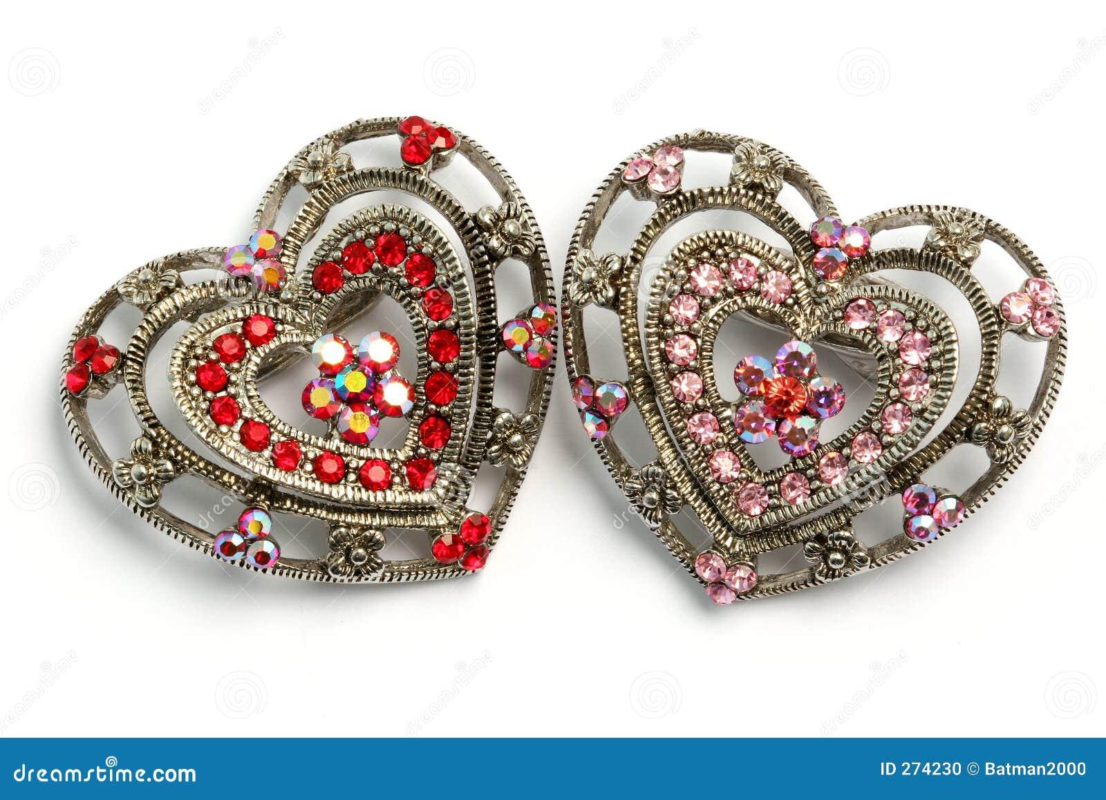 Ornamento dados forma coração 07 do cabelo