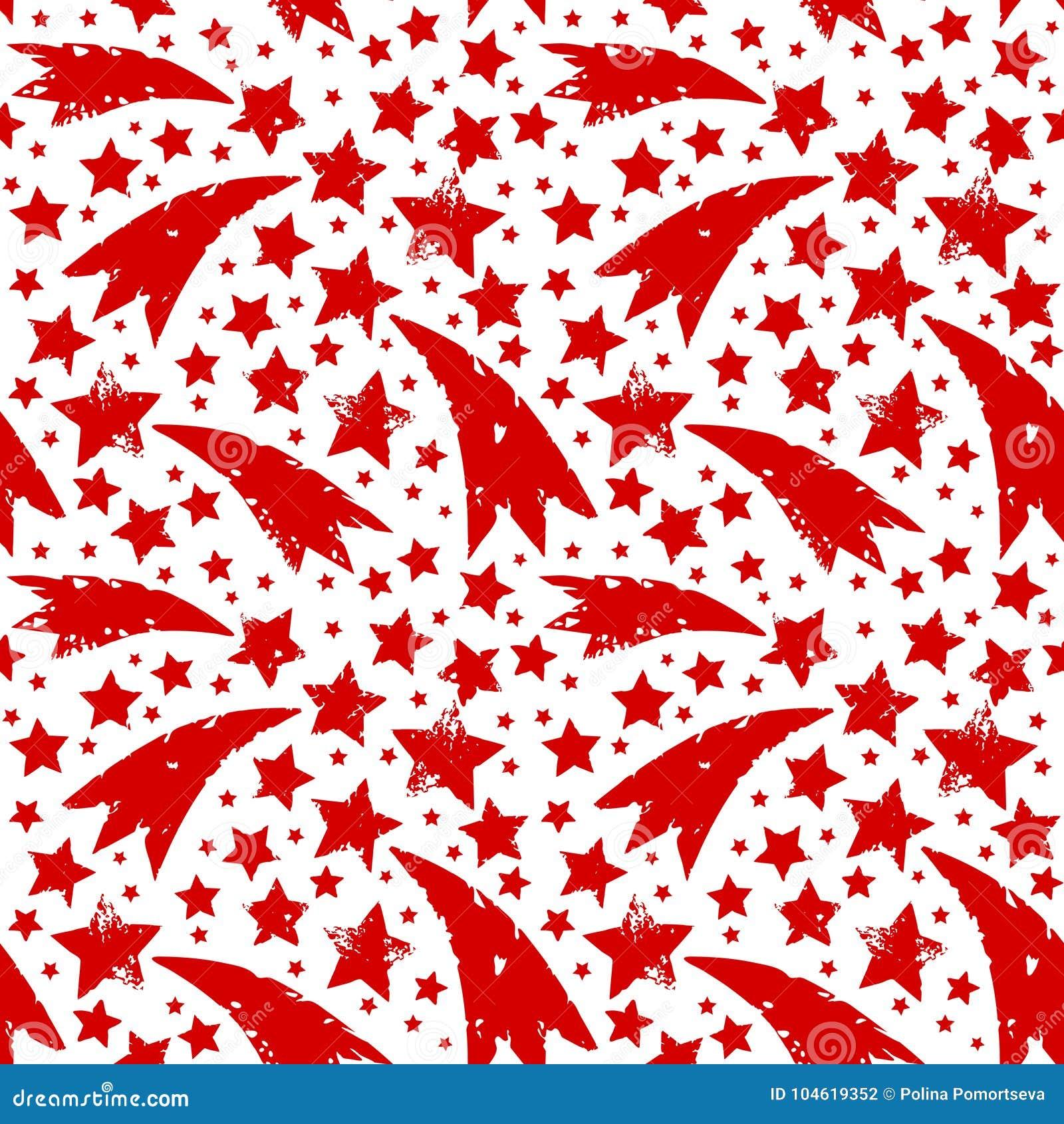 Ornamento de la Navidad con las estrellas sucias del rojo de Navidad