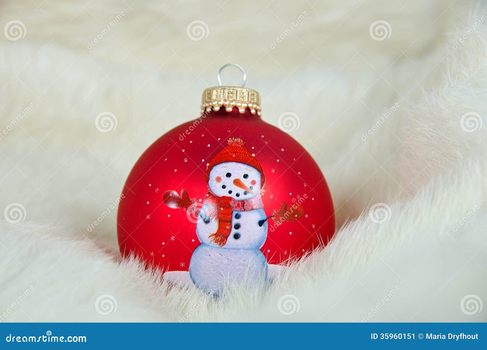 Ornamento de la Navidad en piel