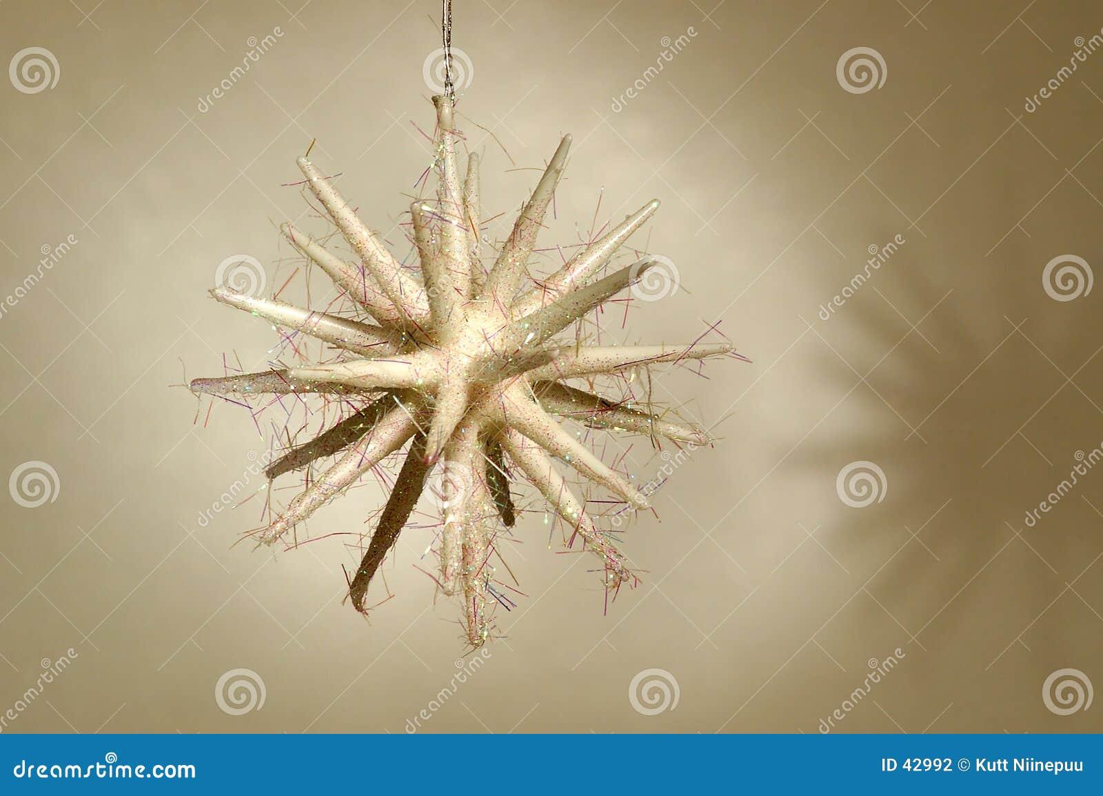 Ornamento de la Navidad - estrella blanca