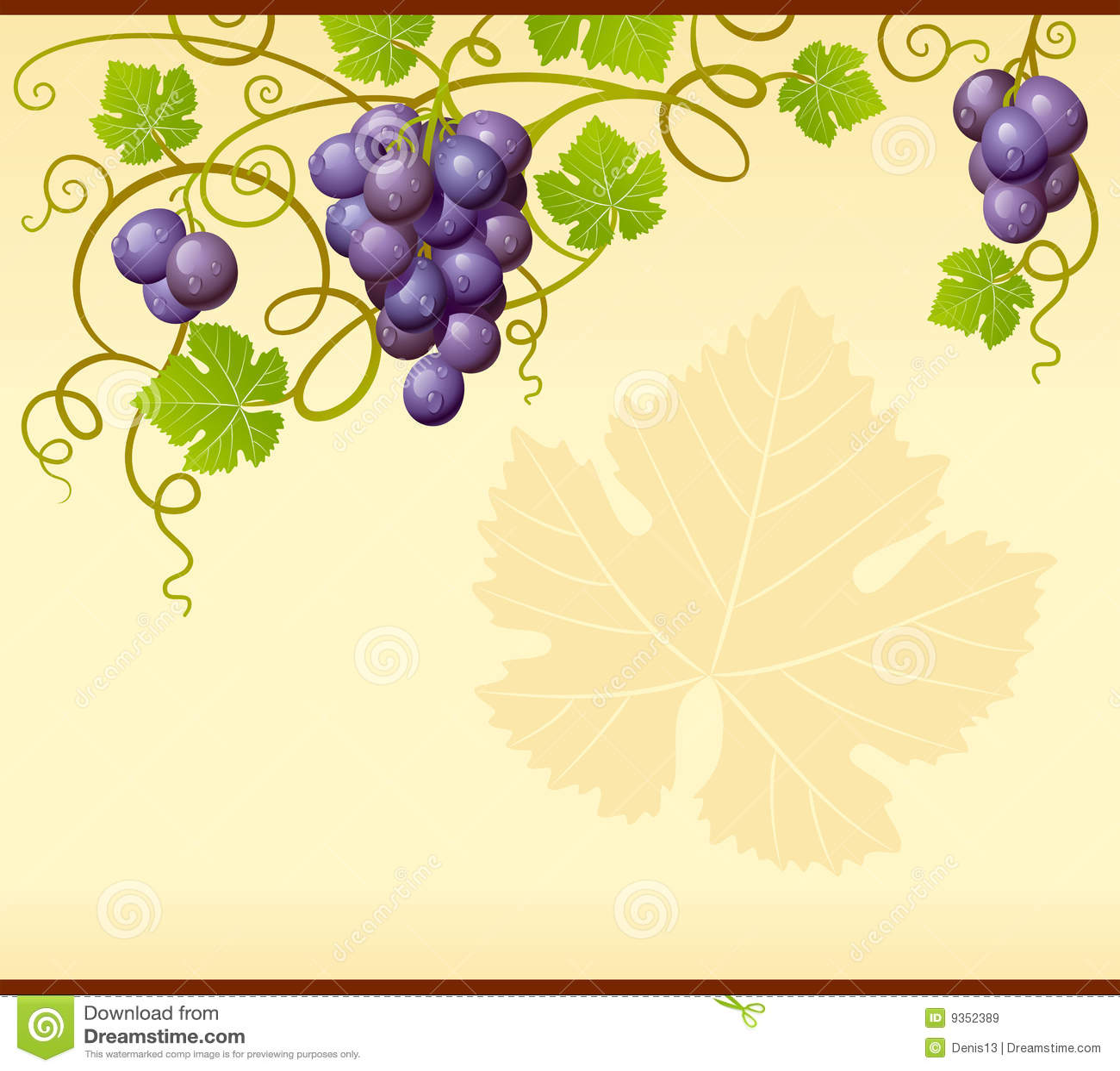 Ornamento de la uva del vector