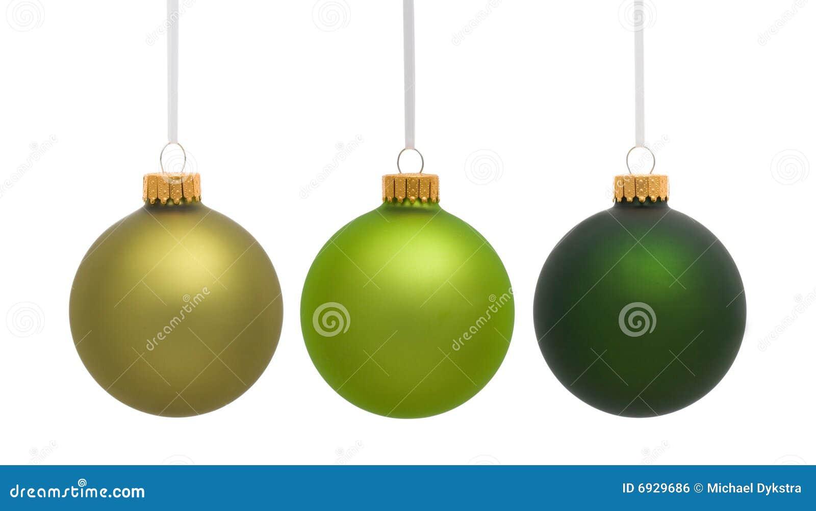 Ornamento de suspensão verdes do Natal