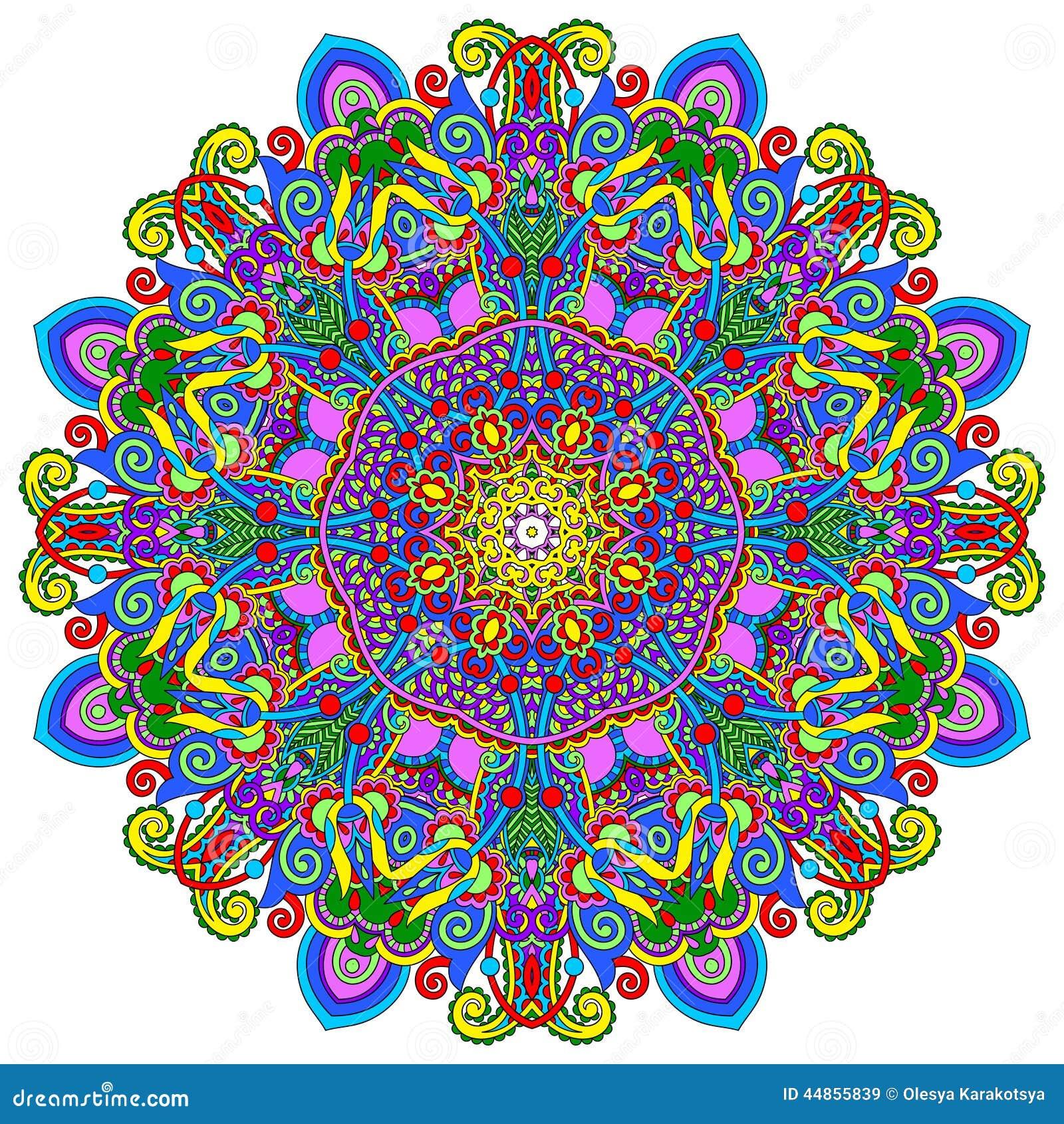 Ornamento del cordón del círculo, geométrico ornamental redondo