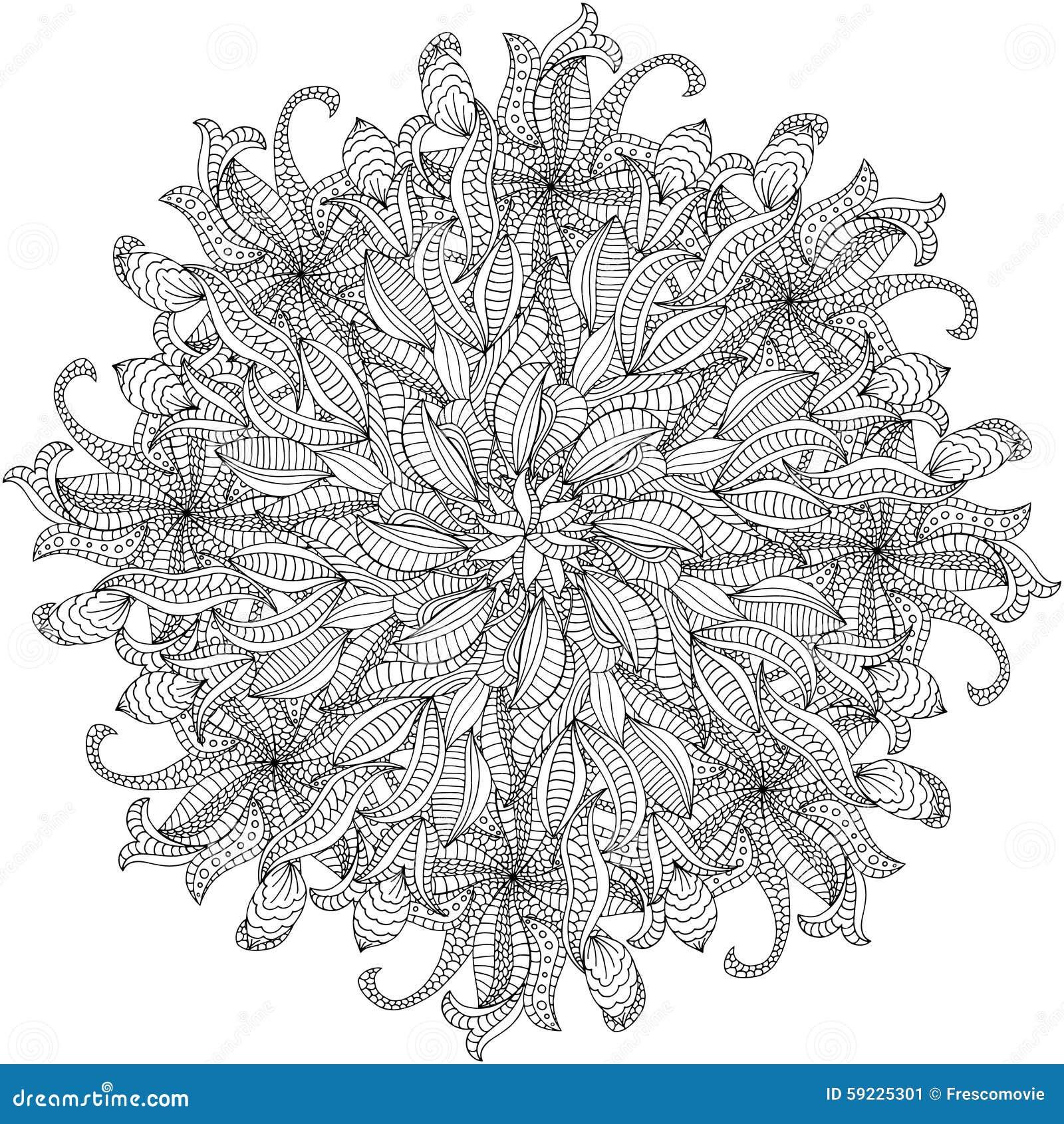 Download Ornamento del rosetón ilustración del vector. Ilustración de decoupage - 59225301