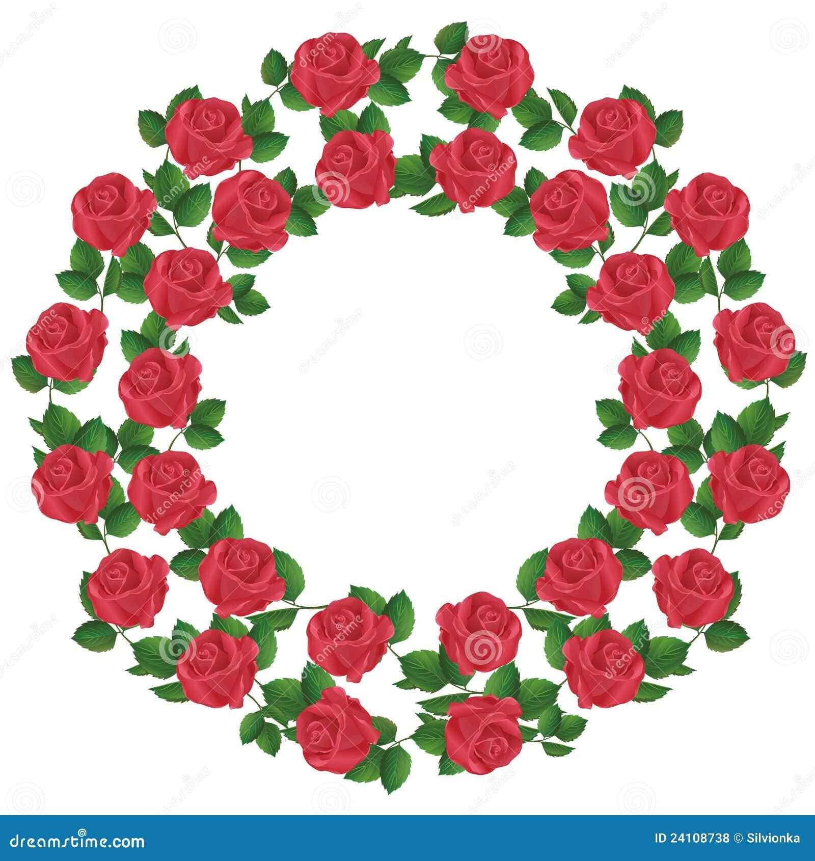 Ornamento Delle Rose Rosse Elemento Del Disegno Illustrazione