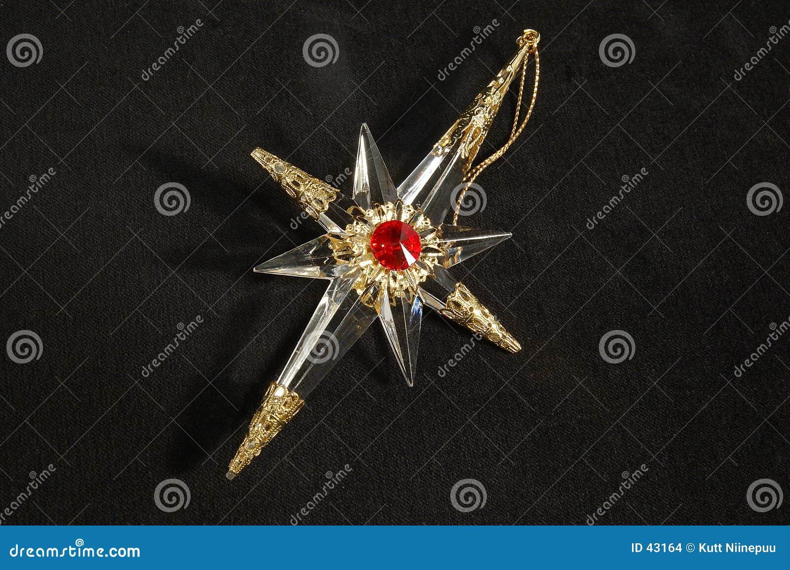 Ornamento di natale - stella del nord, dentro in pieno