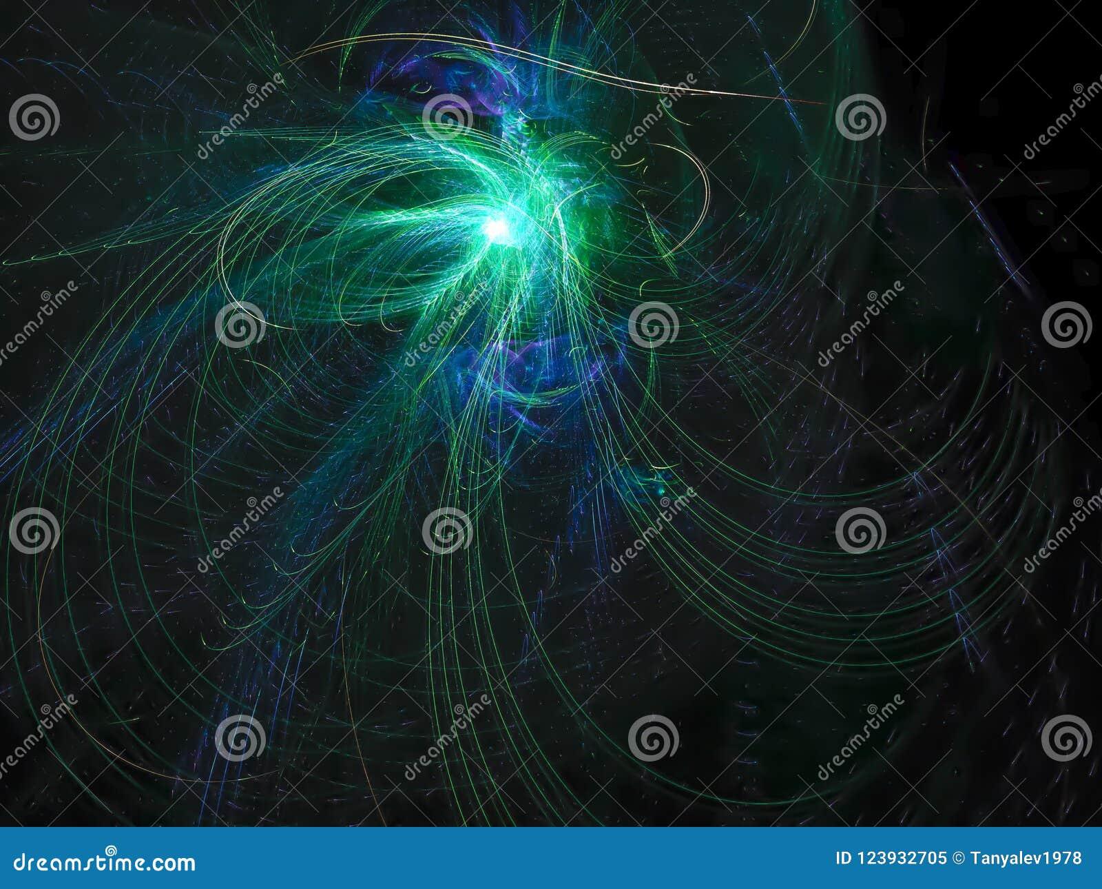 Ornamento di sogno decorativo etereo di fantasia del flusso numerico di fantasia astratta di rumore, esposizione di forma di effe