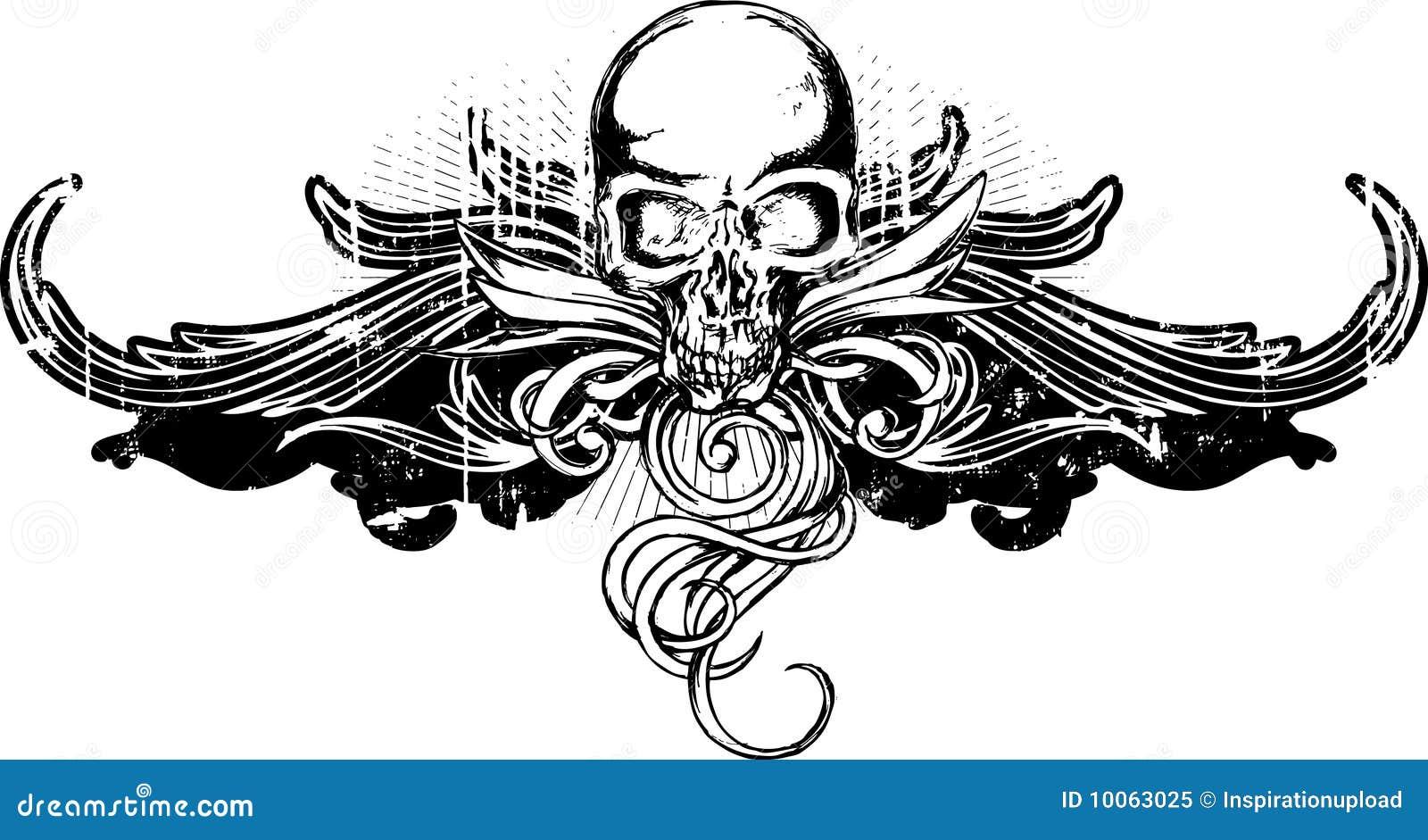 Ornamento do crânio de Grunge